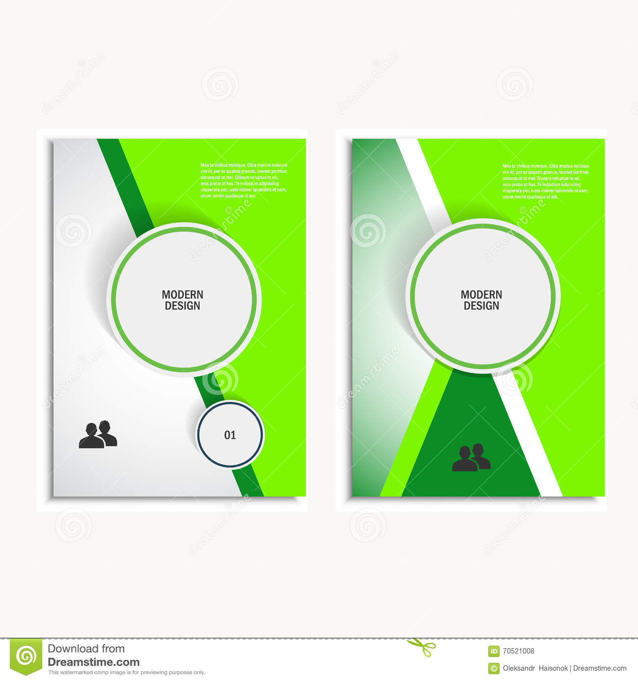 circle brochure template - triangle and circle vector annual report brochure design