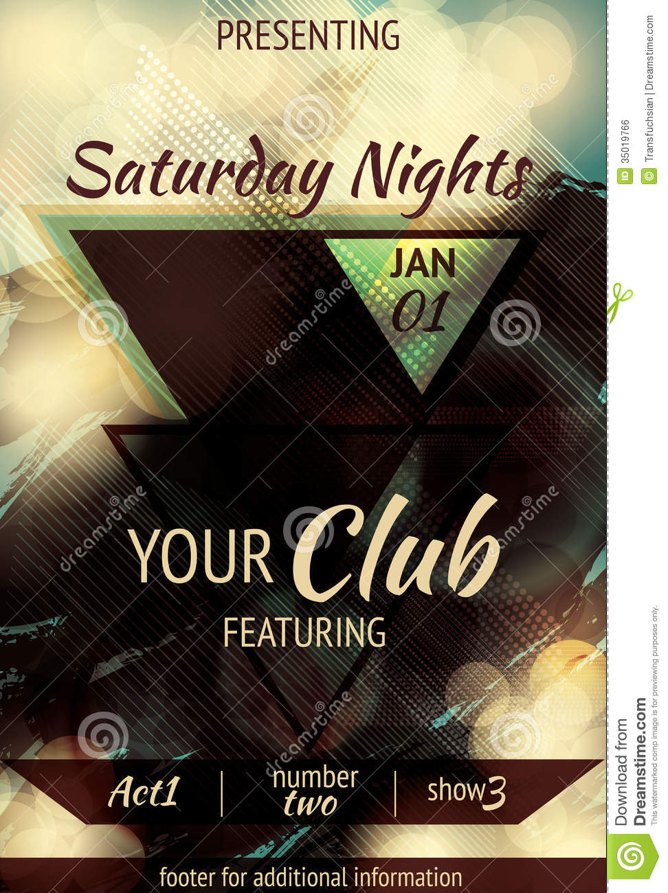 Triangle Design Night Club Flyer Royalty Free Image Image – Night Club Flyer