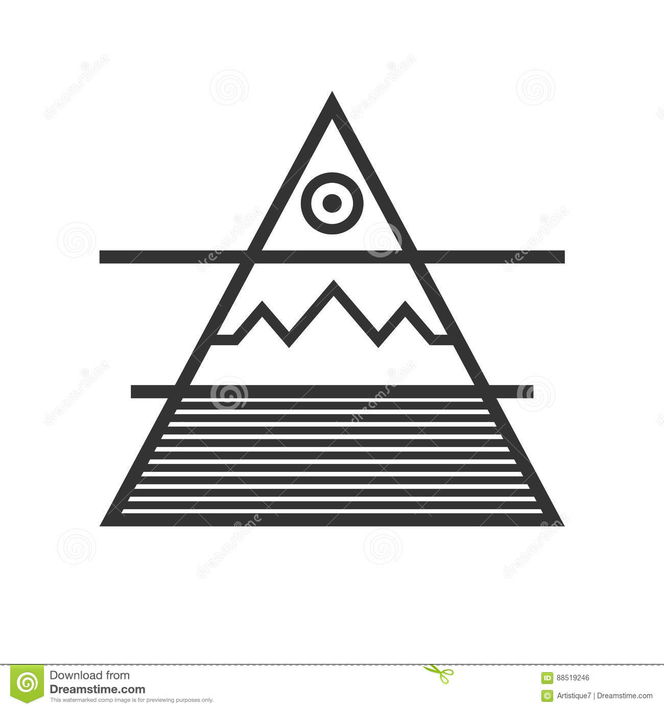 Triangle divided into three elements water ground air sun stock triangle divided into three elements water ground air sun biocorpaavc