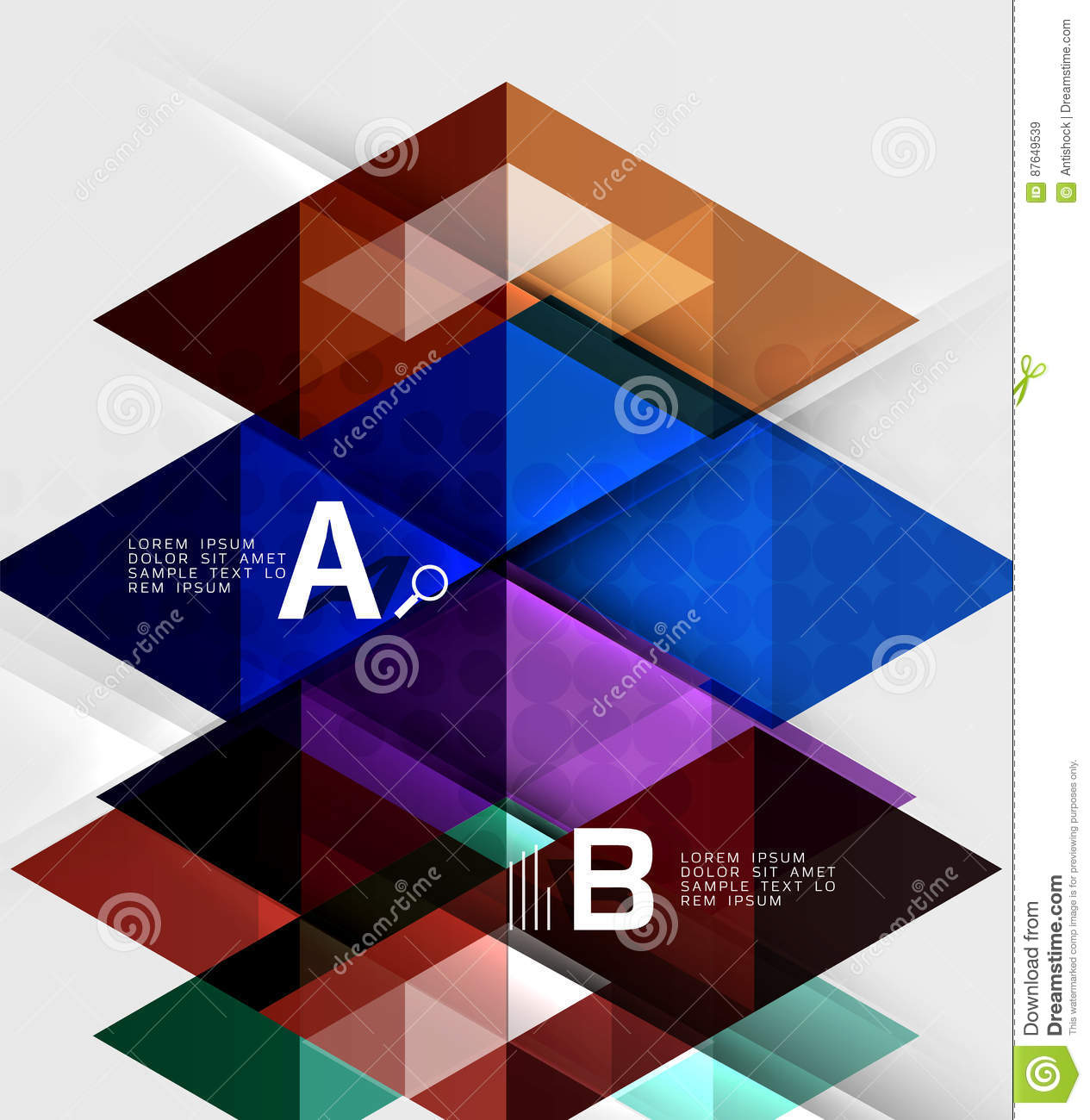 triangle geometric infographic banner stock vector illustration of