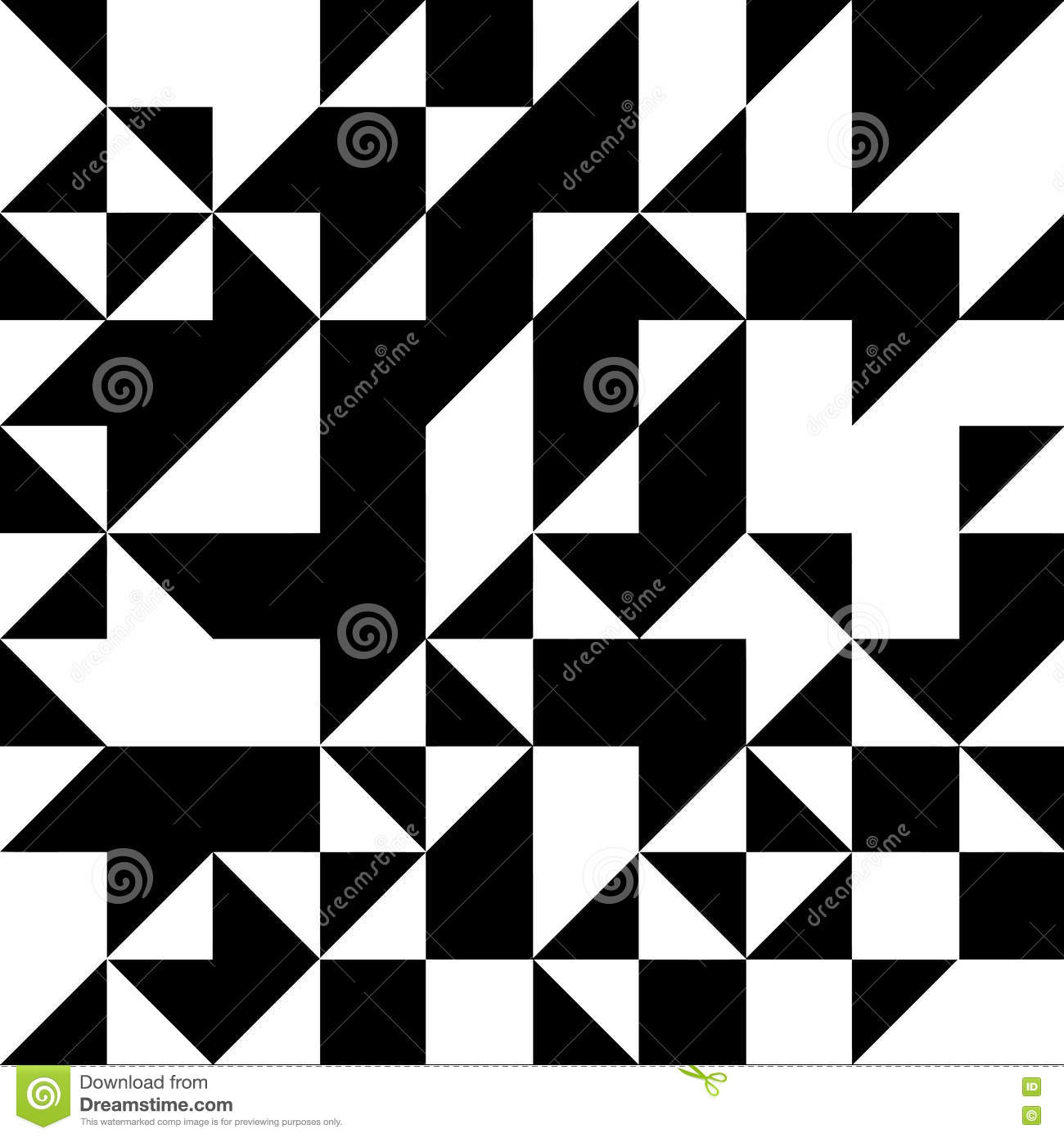 Triangle Geometric Shapes Pattern. Black And White Stock Vector ... for Geometric Shapes Design Black And White  10lpwja