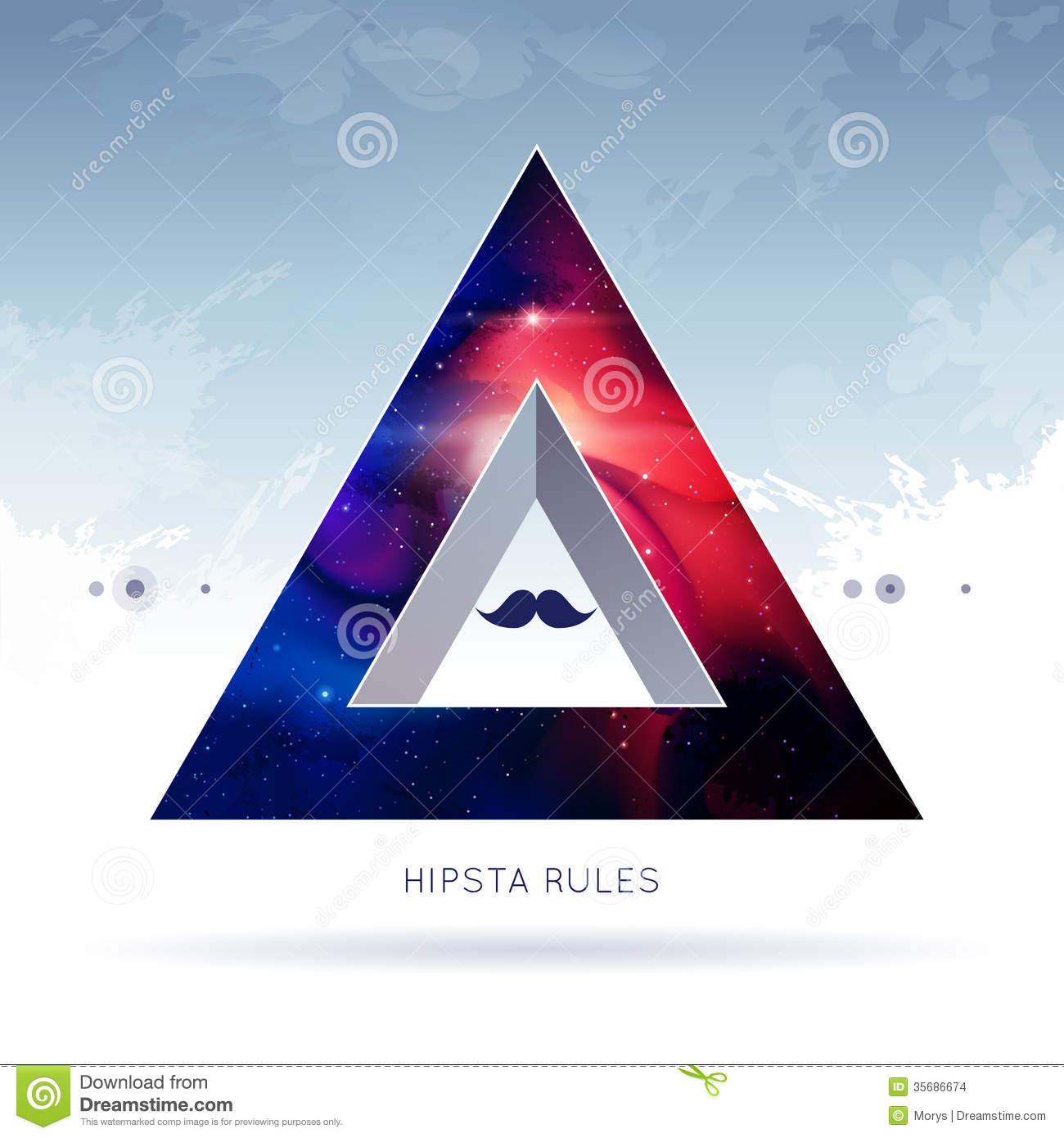 Triangle hipster background