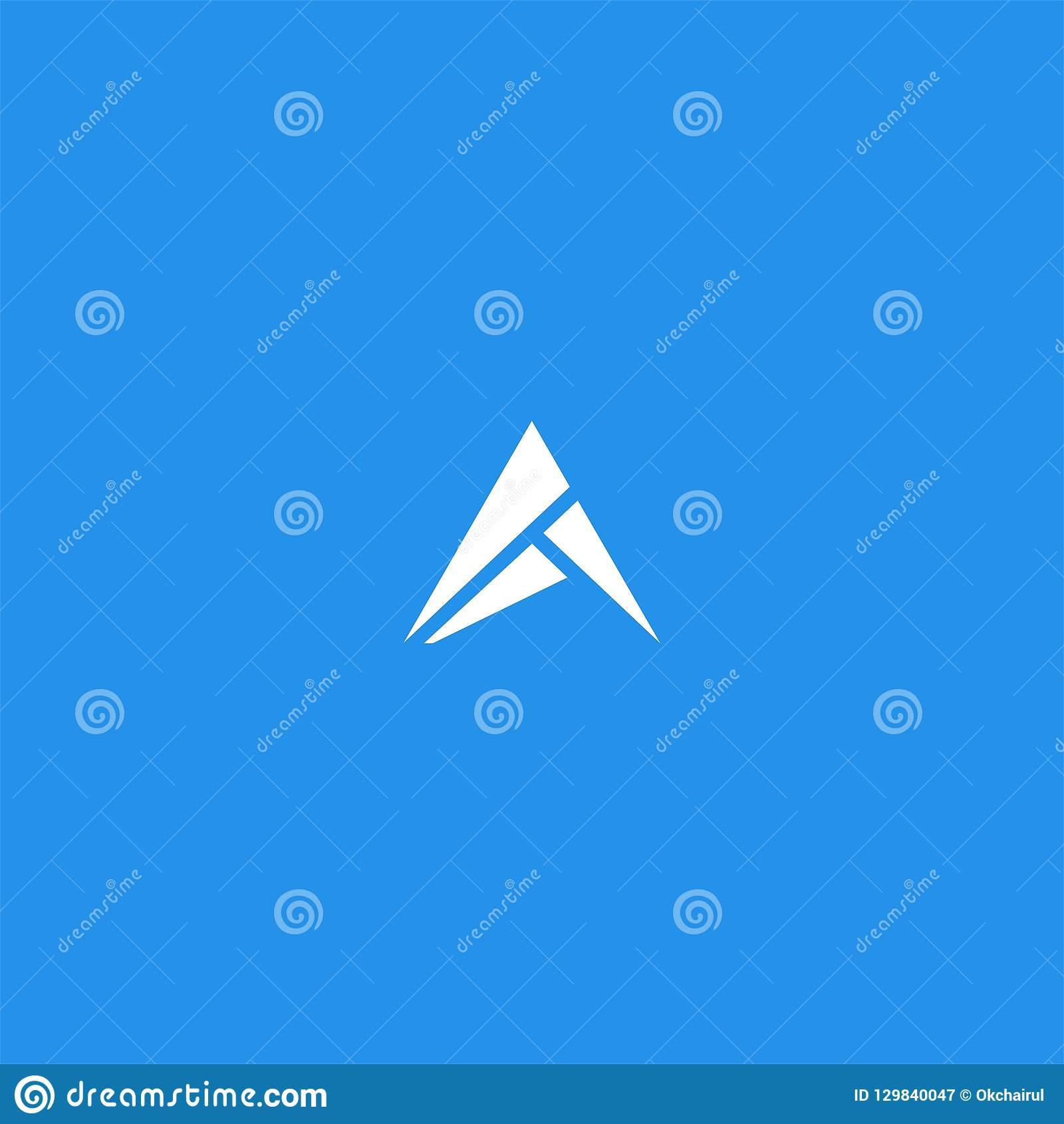 Triangle or Letter A logo design