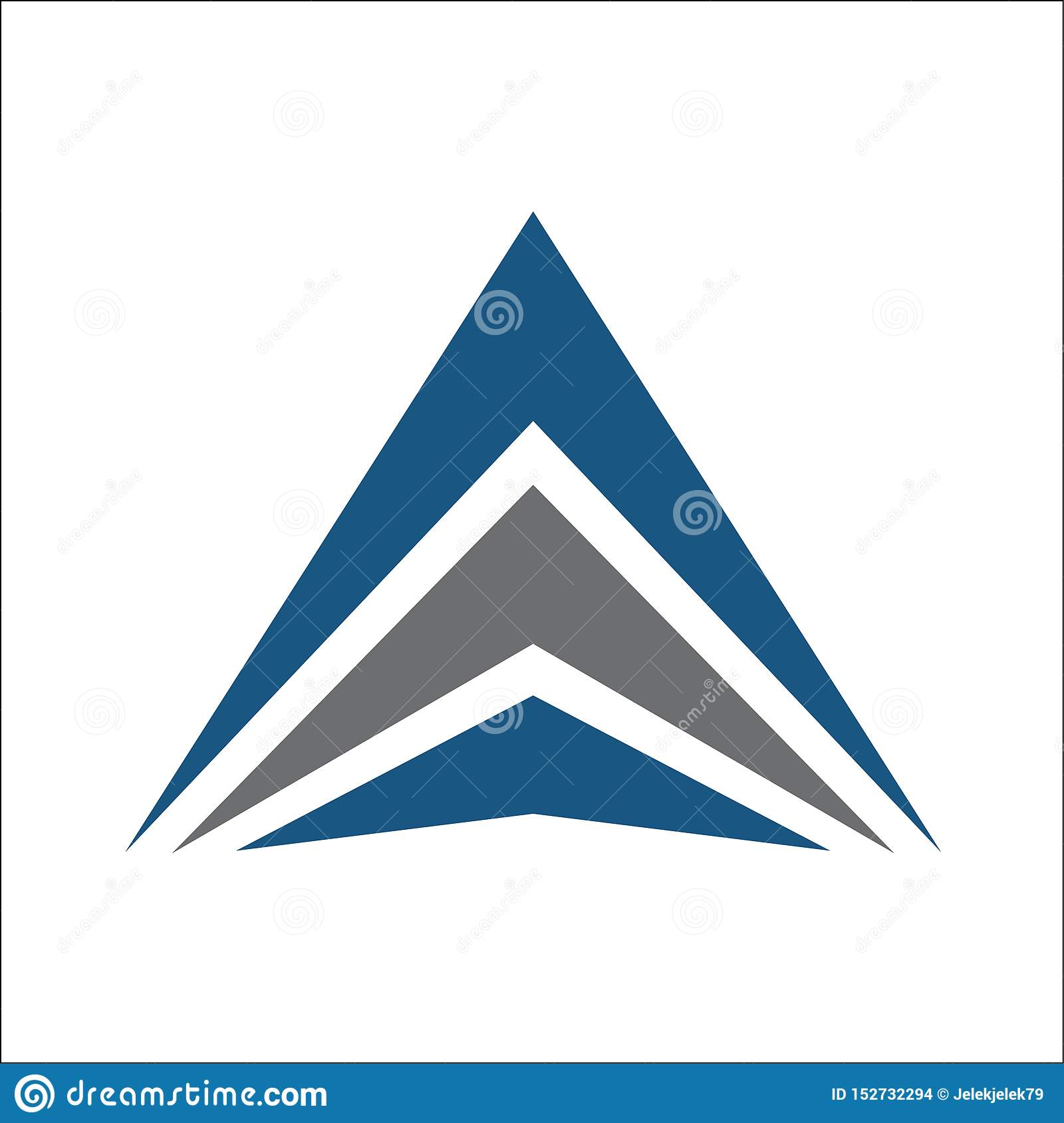 Triangle logo abstract