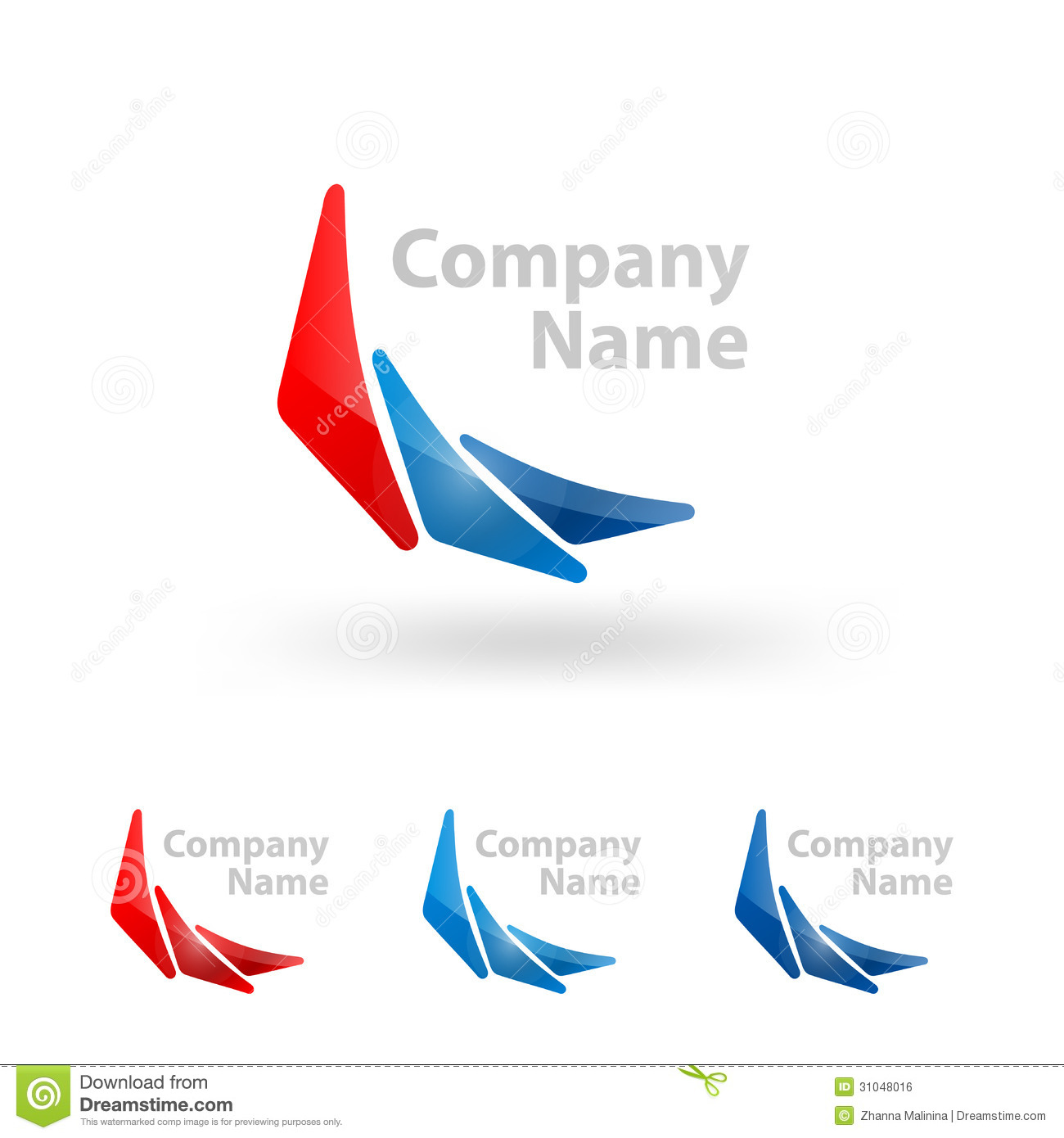 design a company logo free templates - triangle logo company name design stock vector
