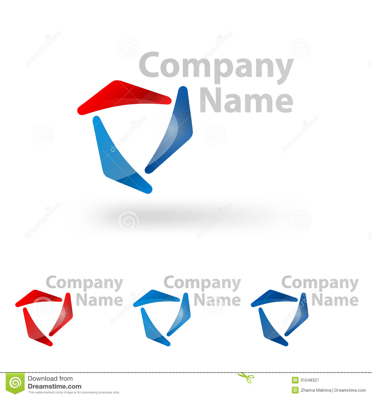 Design triangle and round logo element vector illustration for Design firm names