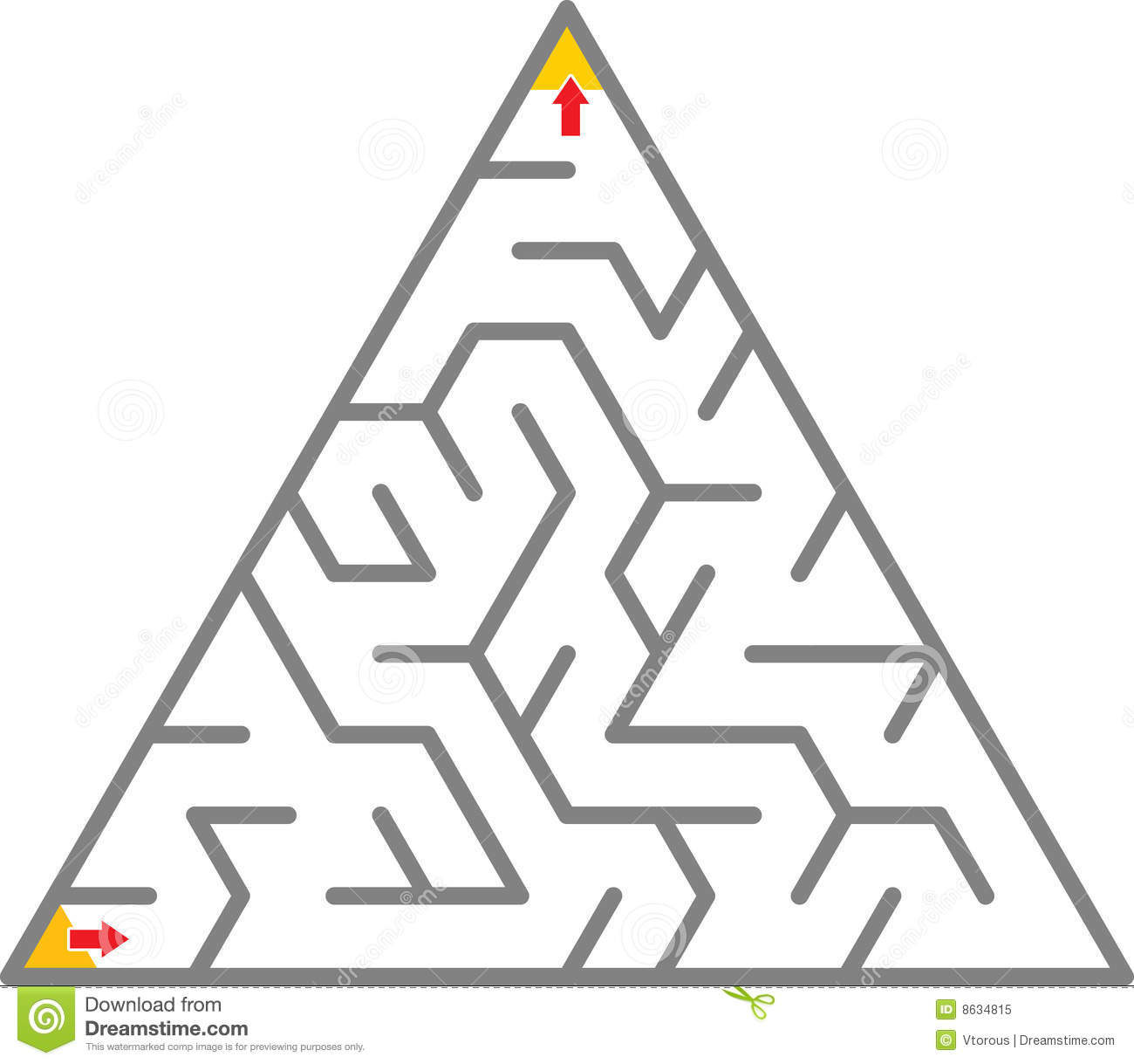 triangle maze royalty free stock photo image 8634815 firefighter clipart images Fireman Coloring Pages