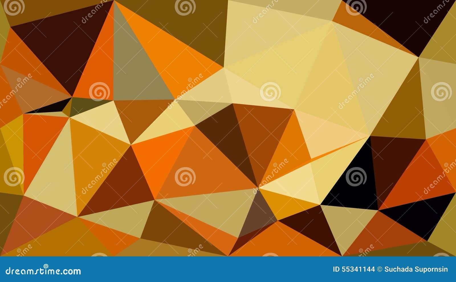 Triangle Orange White Black Polygon Wallpaper Stock Illustration