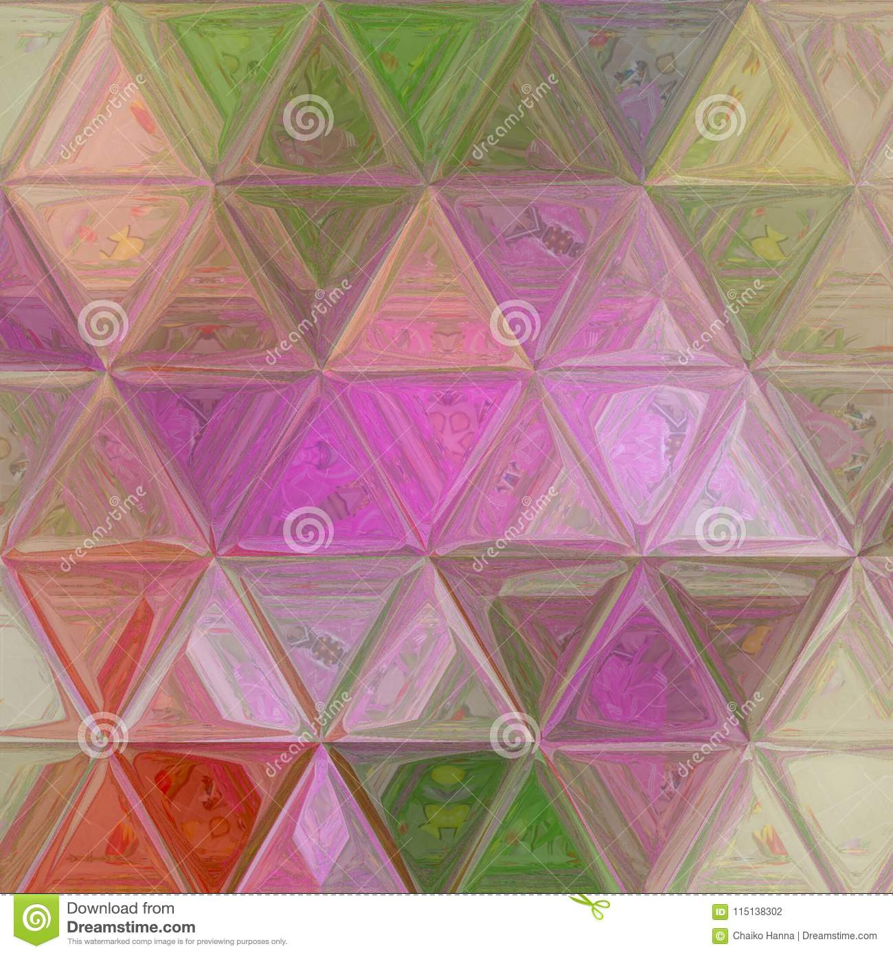 Download Tender Triangle Pastel Texture In Violet, Beige, Green Colors For  Wallpaper, Textile