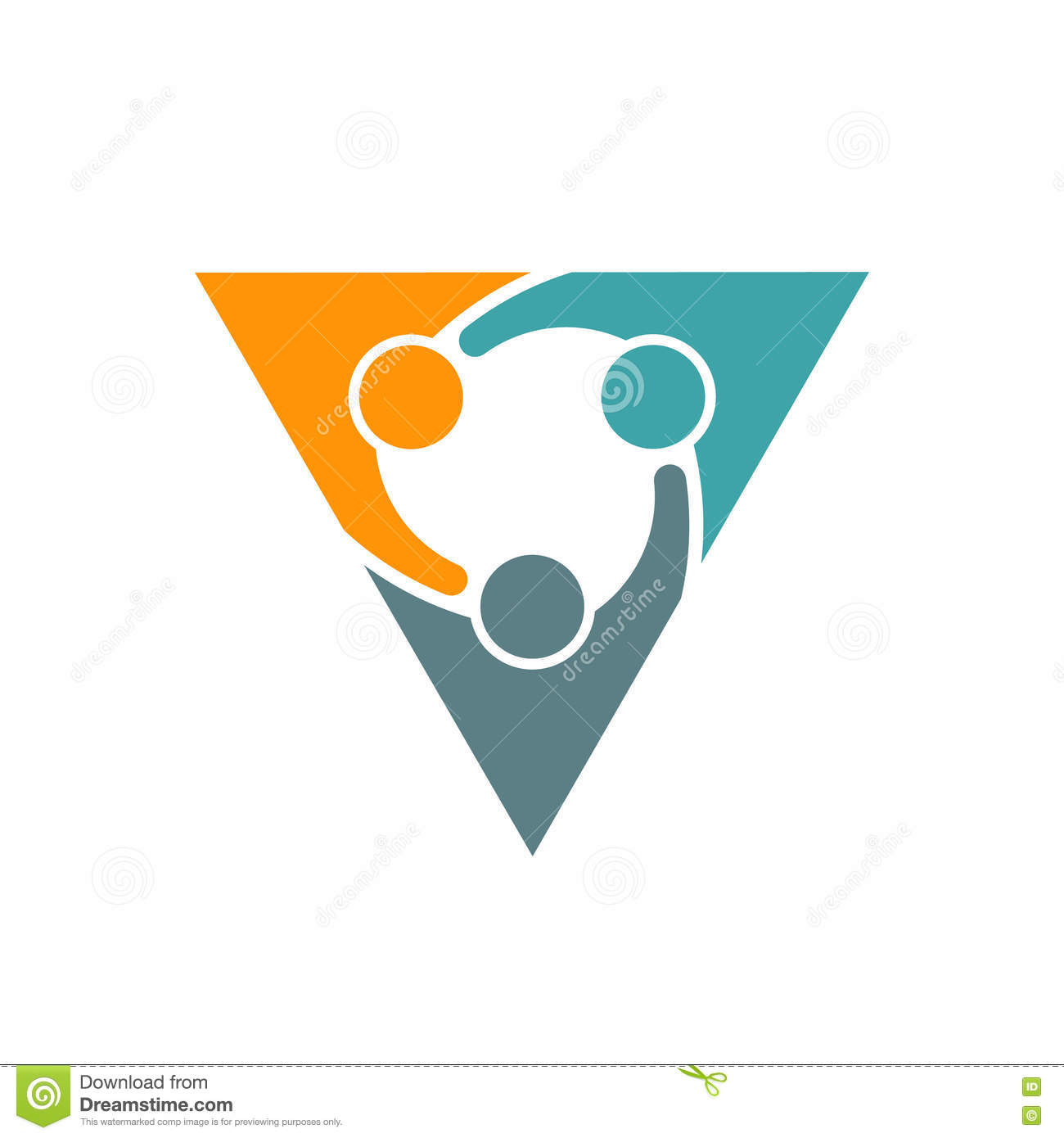 Triangle People Business Partners Illustration