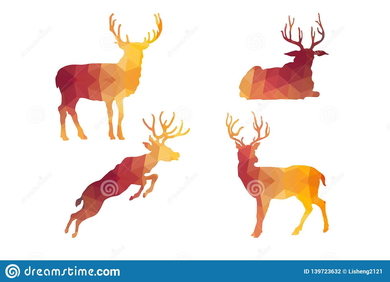 Triangle Polygonal Silhouettes of Bucks