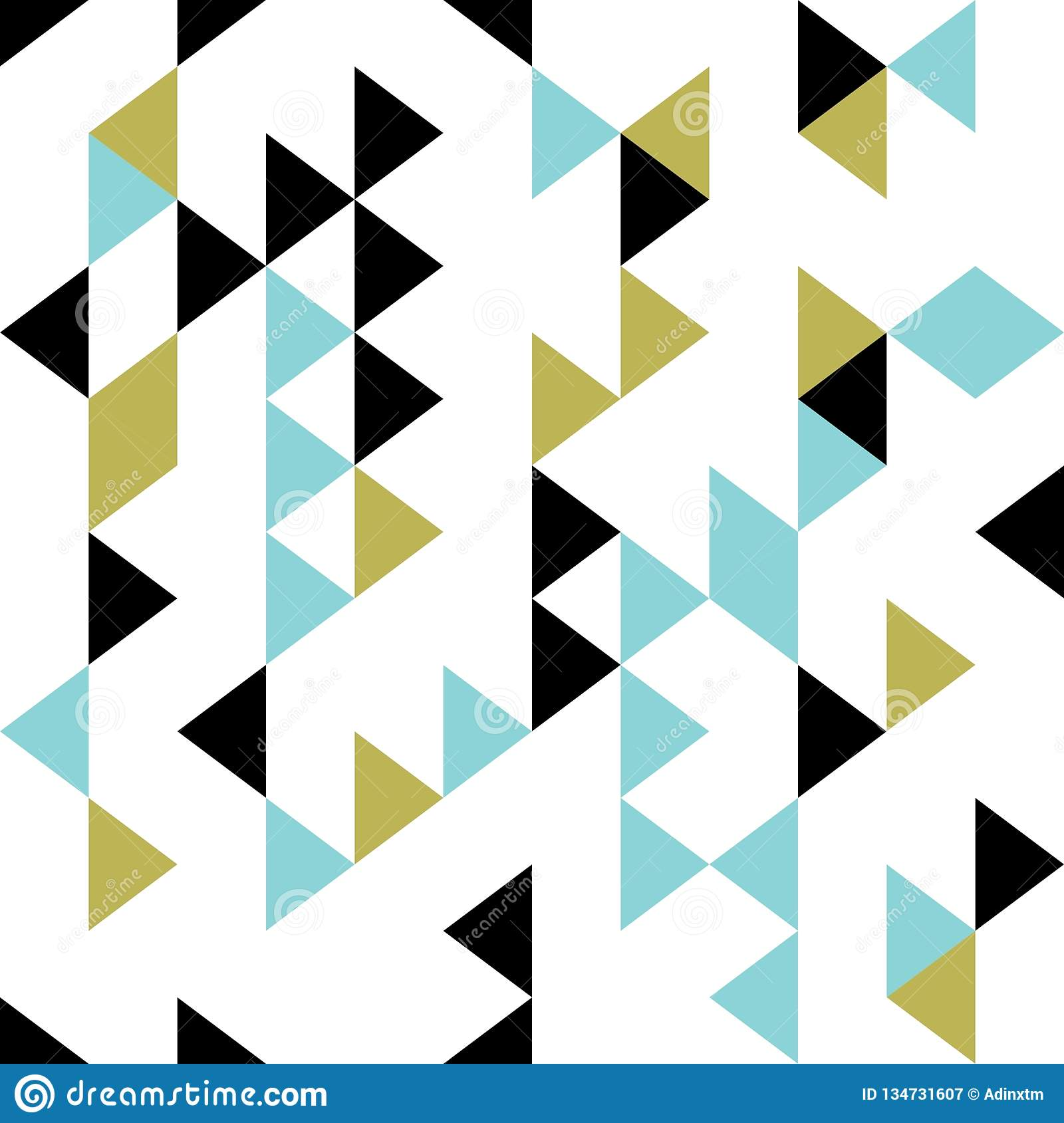 Triangle Retro Seamless Pattern Vector Illustration  Hipster