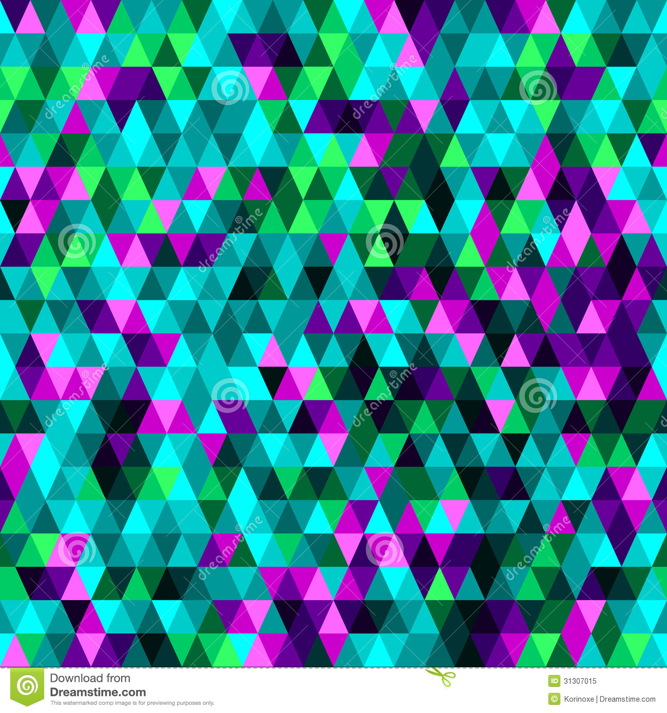 Triangle seamless background royalty free stock photo - Green and turquoise wallpaper ...