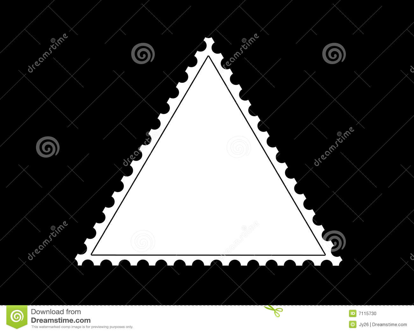 triangle shape postage stamp frame