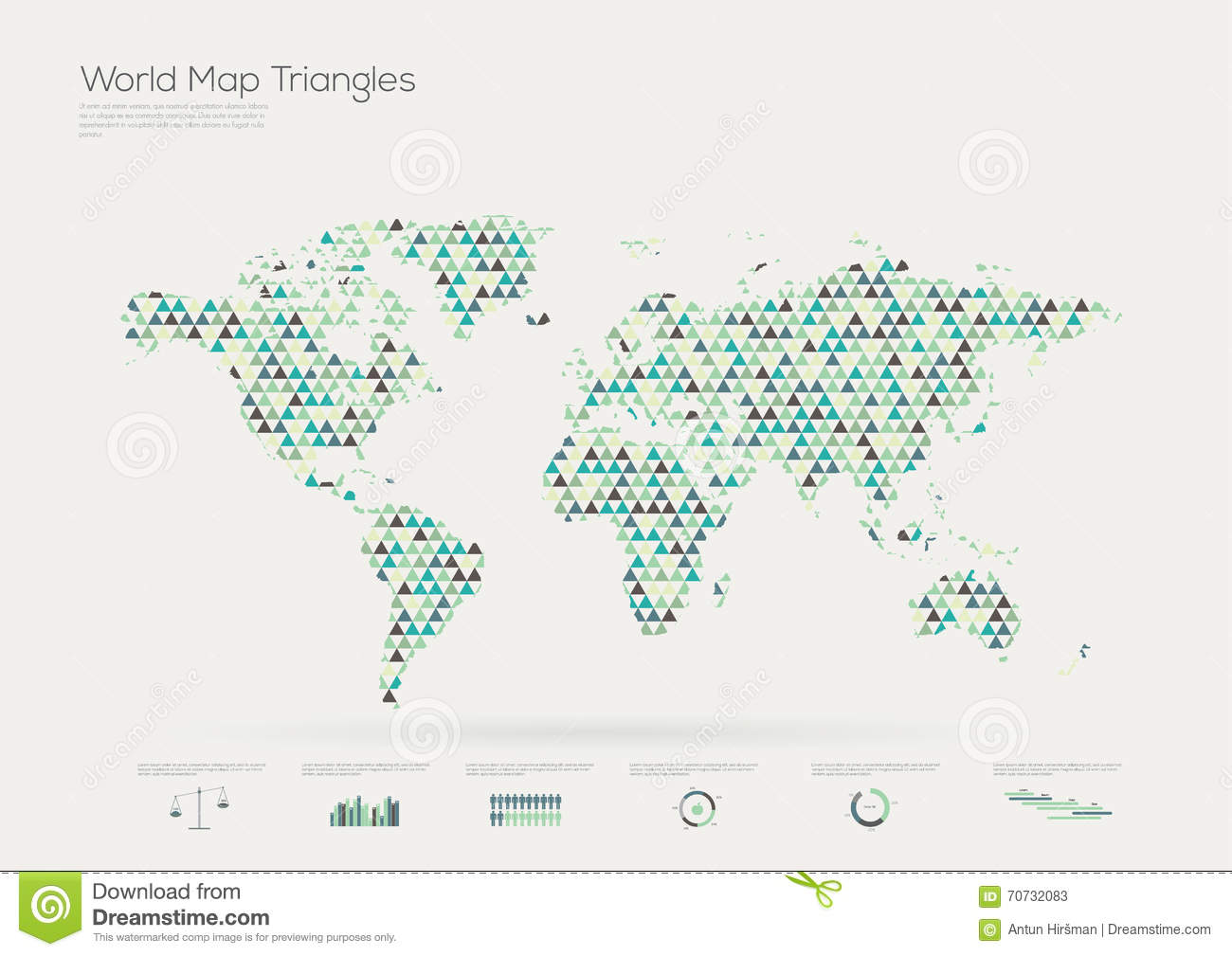 Triangle shape world map infographic illustration 70732083 megapixl triangle shape world map infographic gumiabroncs Image collections