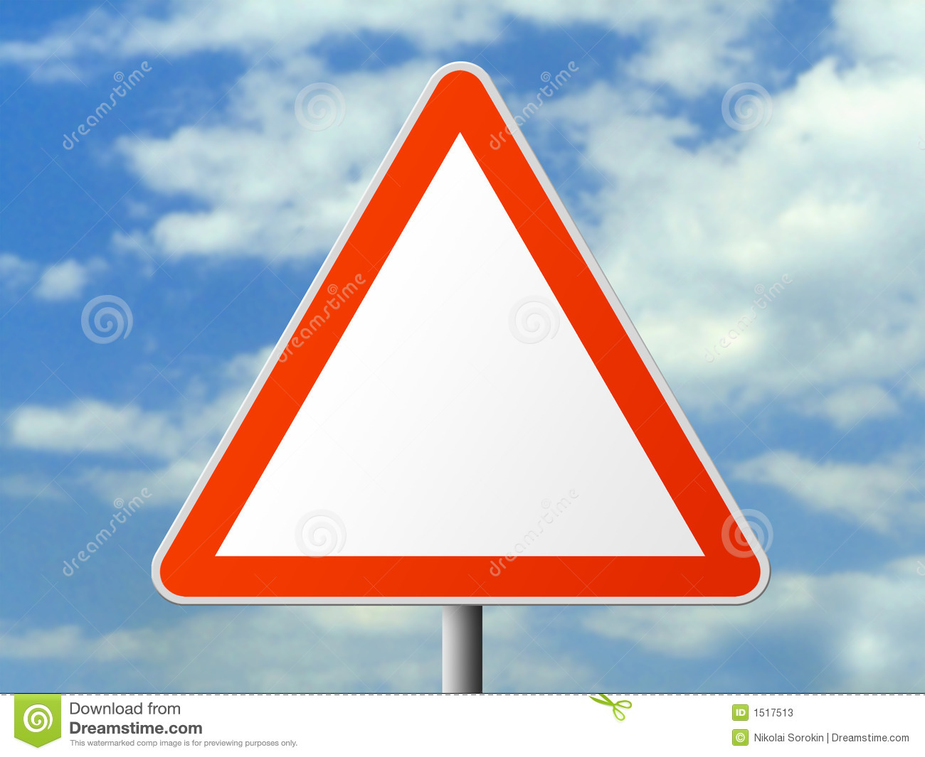 Triangle sign (clear)