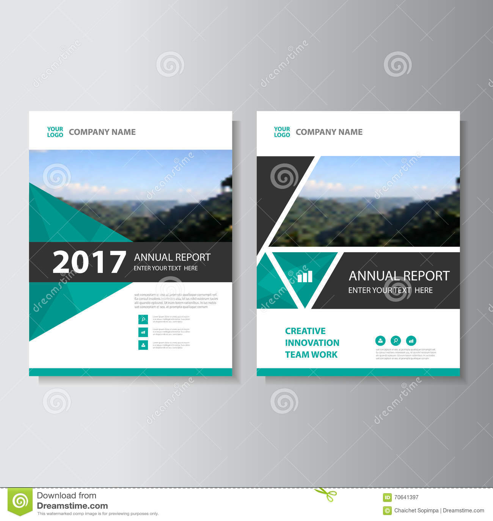Creative Book Design Template ~ Triangle vector annual report leaflet brochure flyer