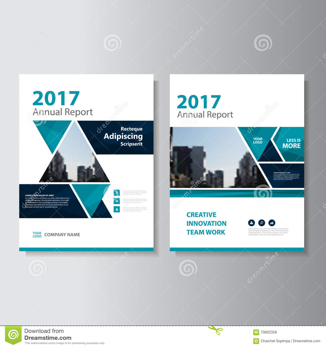 Corporate Book Cover Design Vector : Triangle vector annual report leaflet brochure flyer