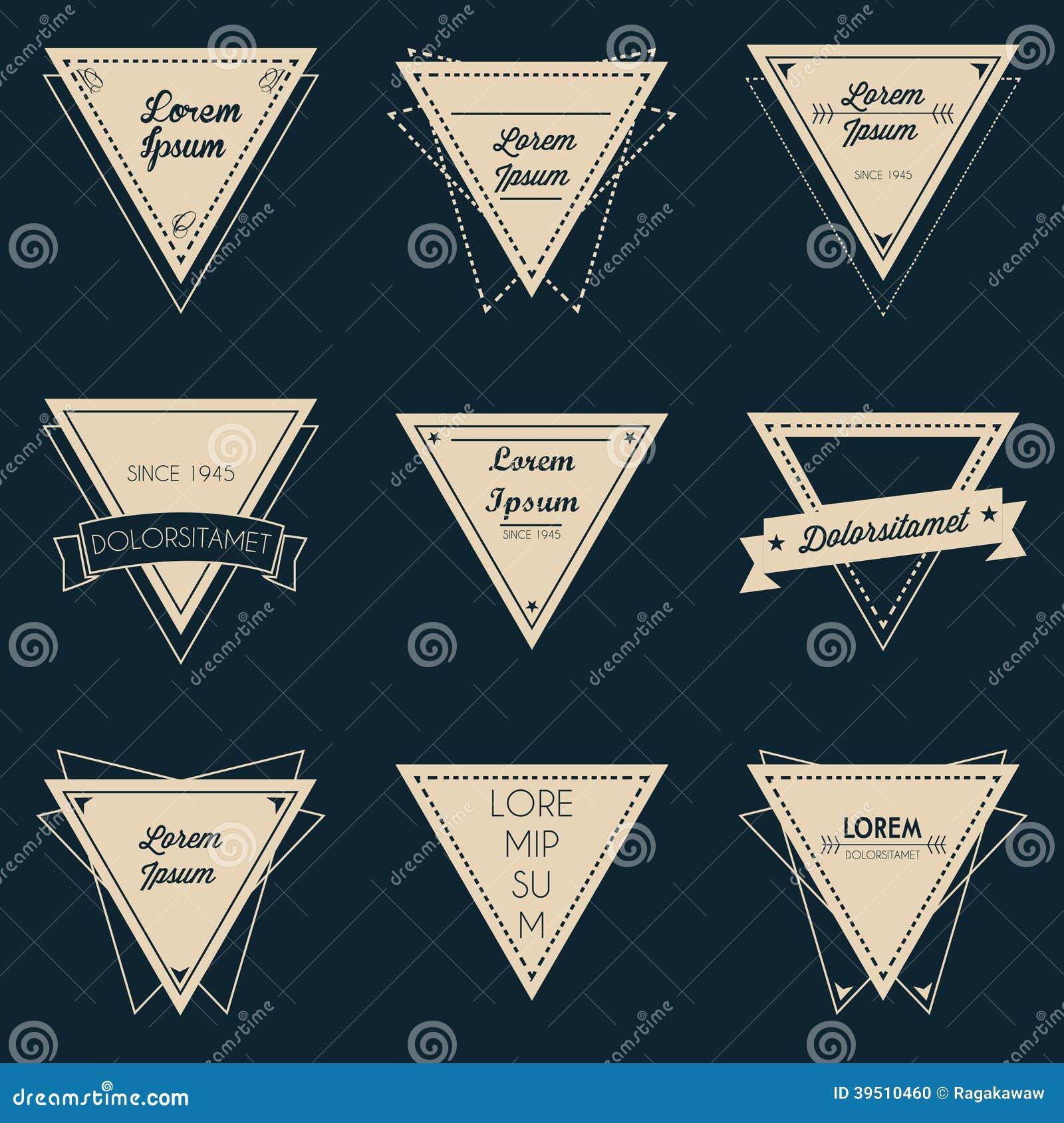 Triangle Vintage Label Set