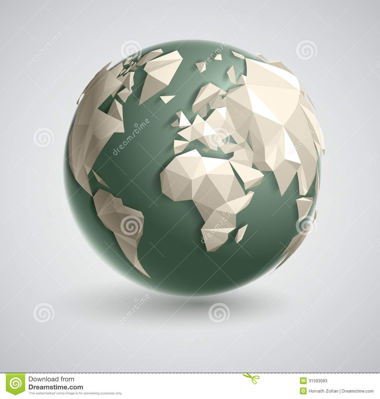 Triangle world globe stock vector illustration of information triangle world globe gumiabroncs Image collections