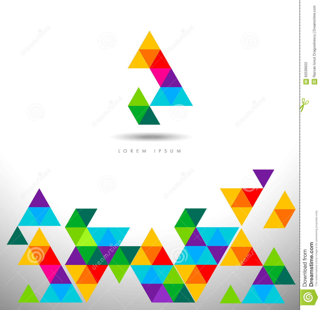 Triangles Logo Pattern Stock Vector Image 62536622