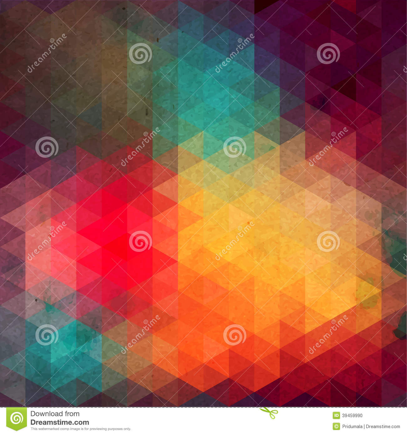 Abstract retro geometric background with place for your text colorful - Triangles Pattern Of Geometric Shapes Colorful Mosaic