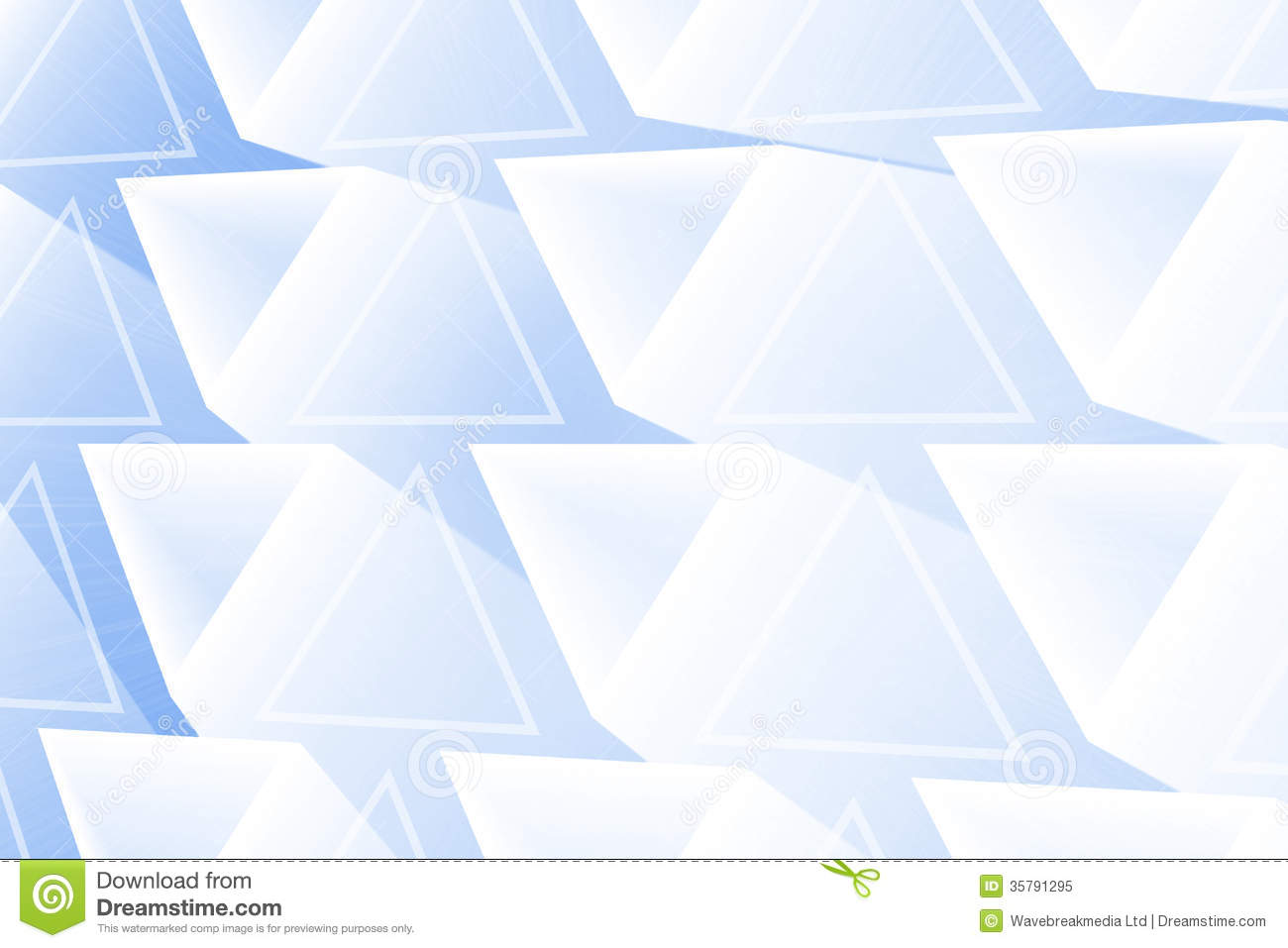 Triangles rougeoyantes abstraites