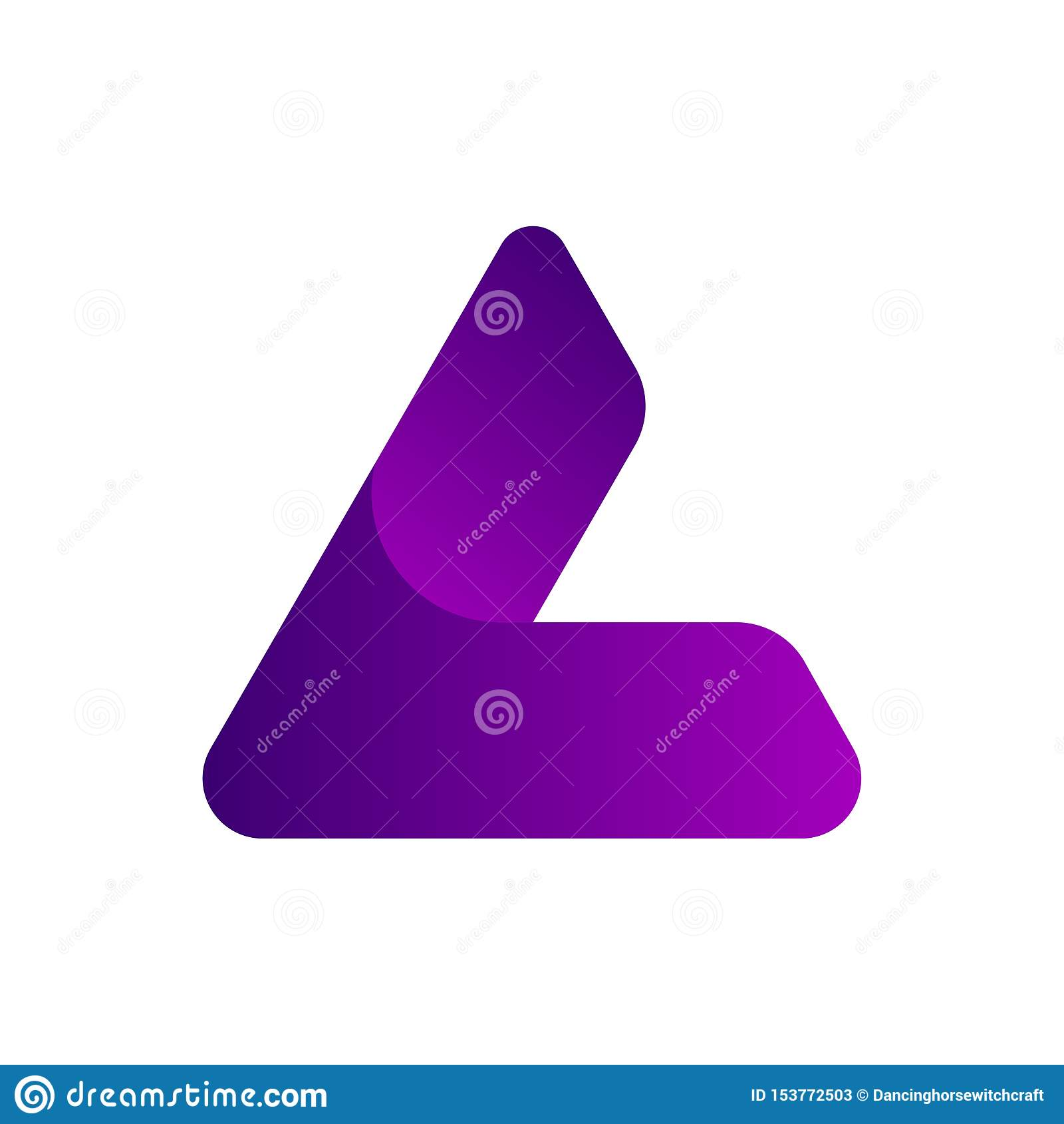 Triangolo L o una progettazione di logo di iniziali