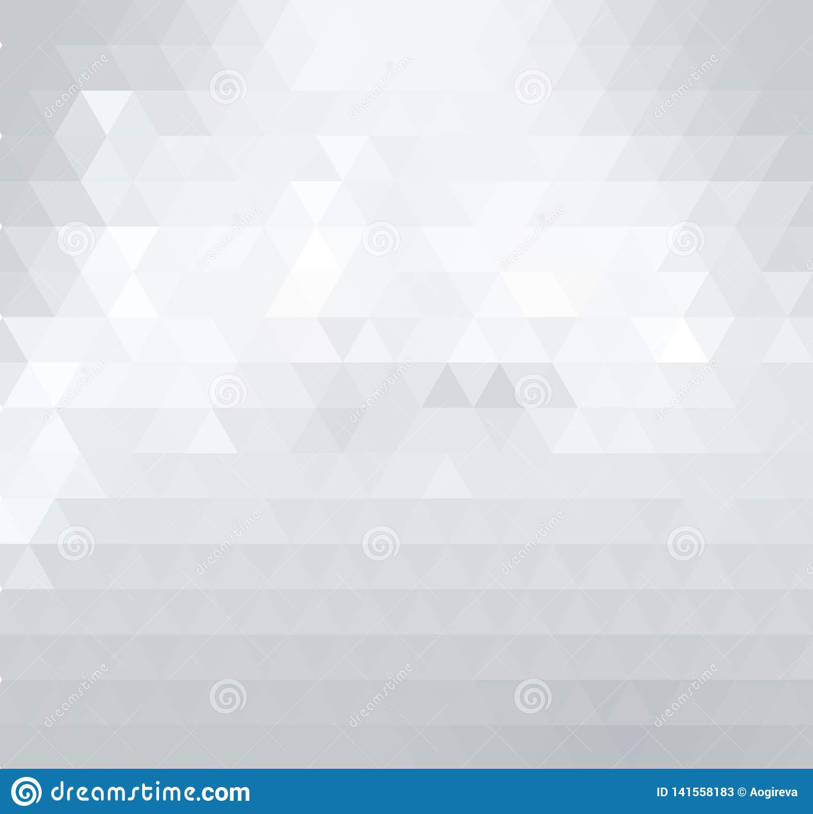 Triangular low poly, light grey, silver, mosaic pattern background.