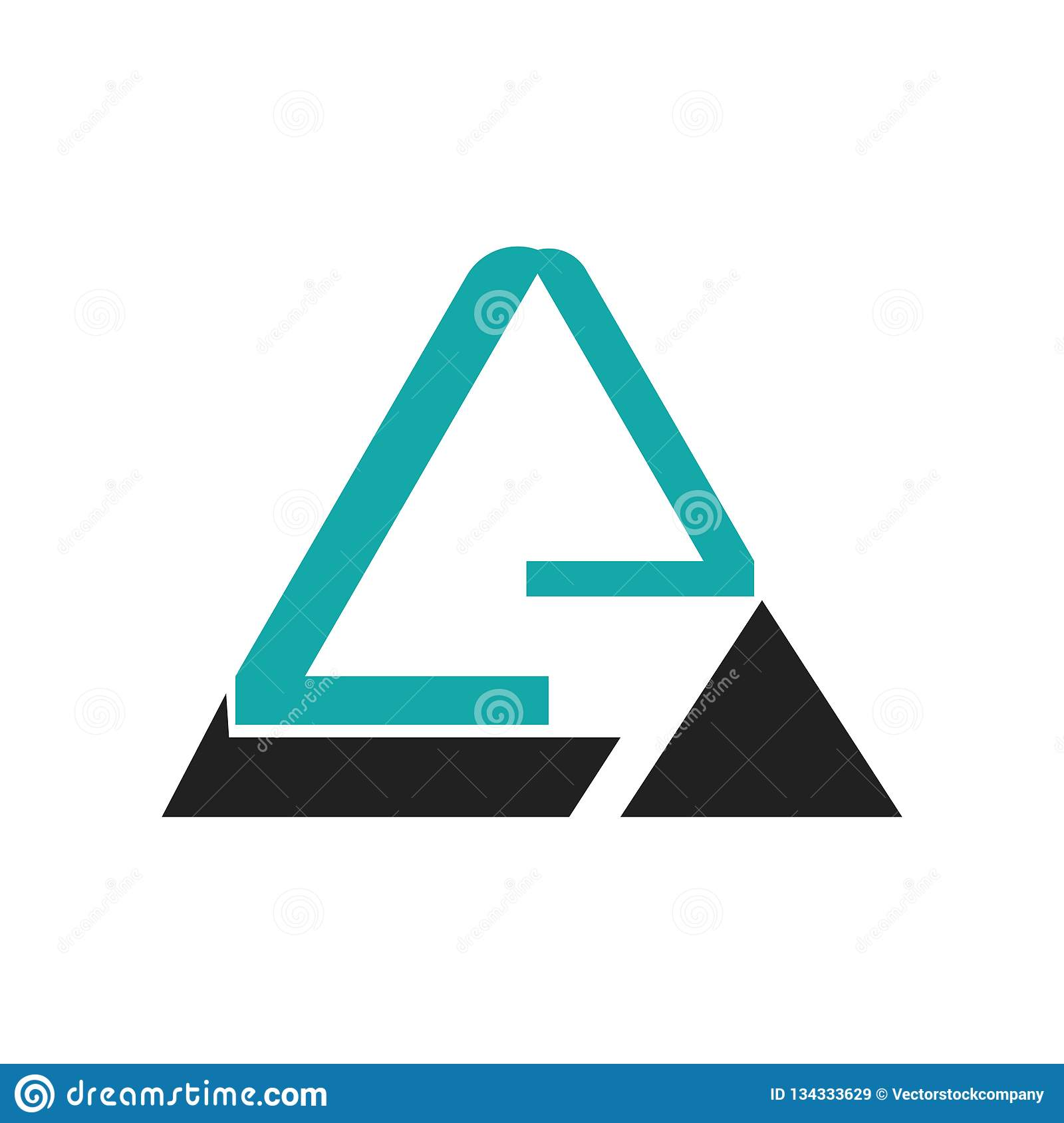 Triangular pyramid graphic icon vector sign and symbol isolated on white background, Triangular pyramid graphic logo concept