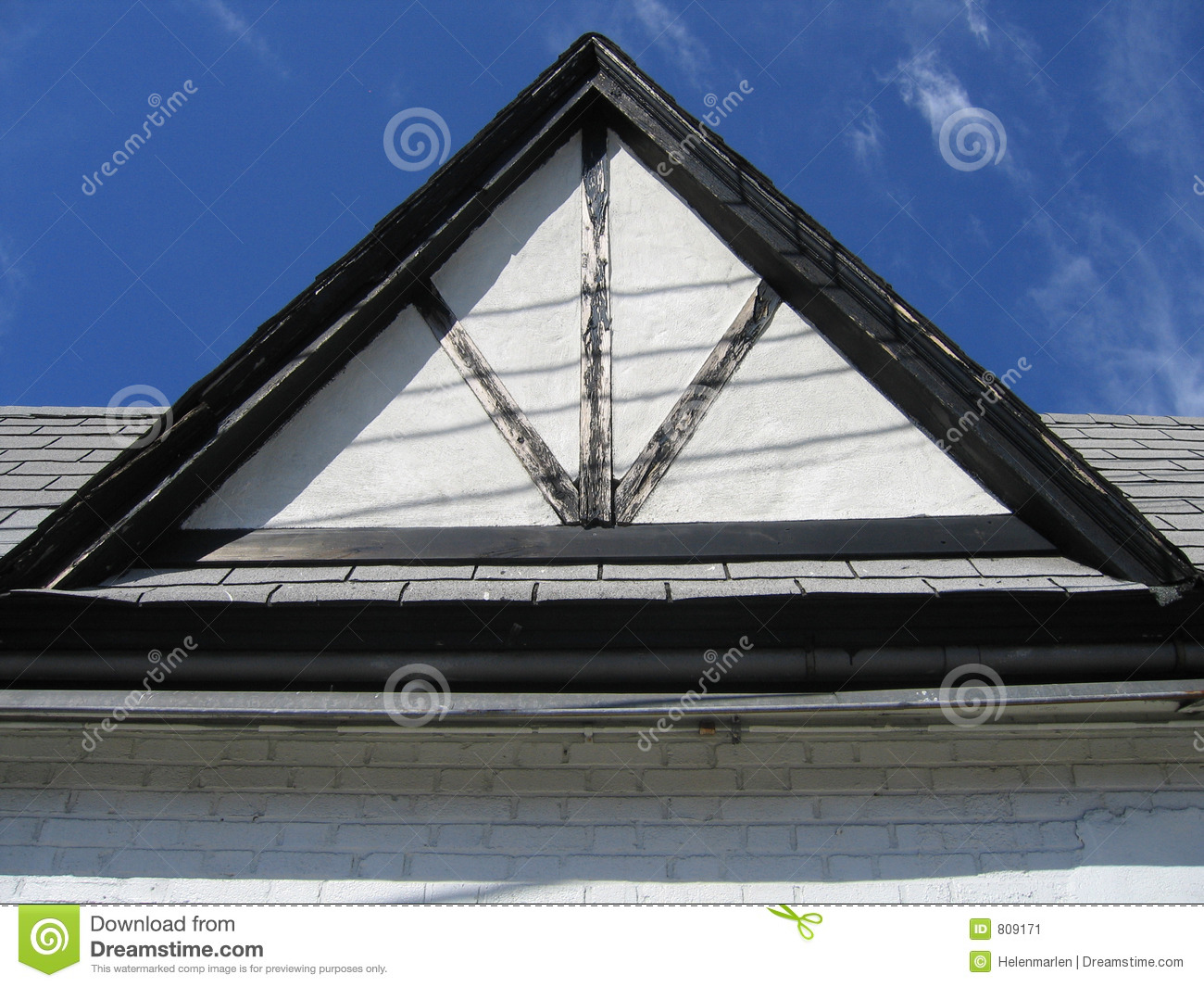 Triangular Roof Stock Image Image Of Architecture House