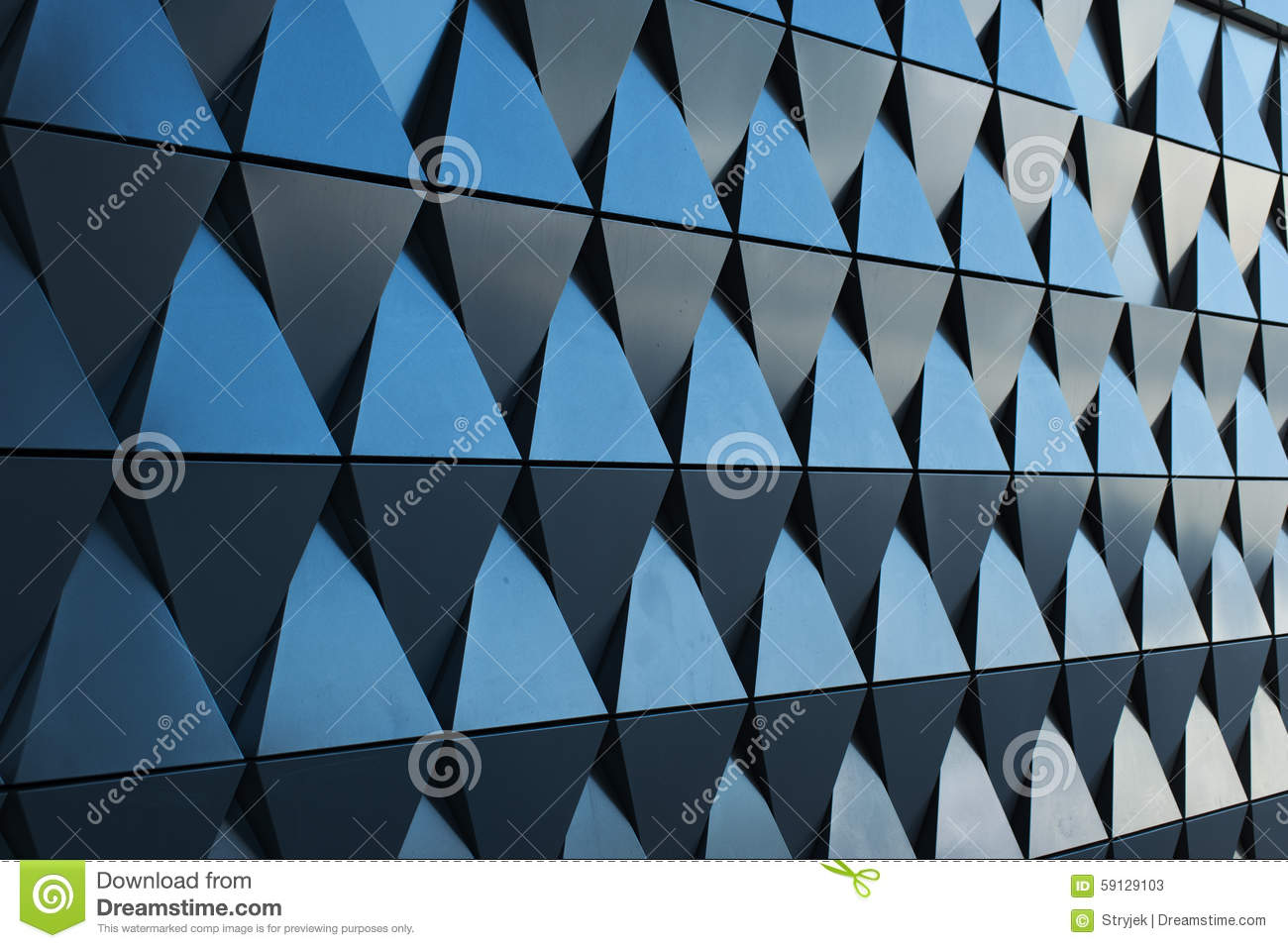 triangular shaped wall design texture stock photos - Architectural Wall Design