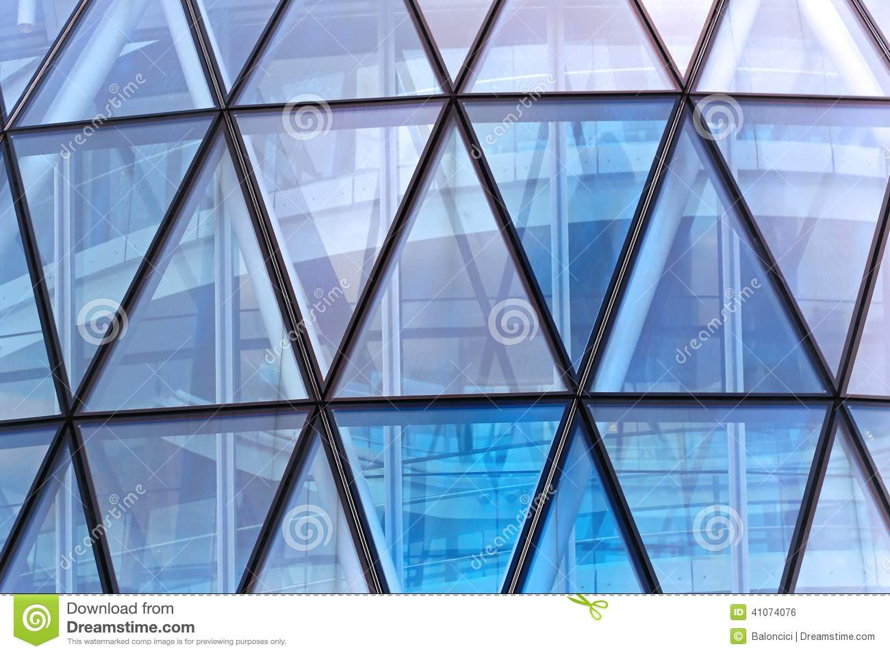 Triangular Windows Stock Photo Image 41074076
