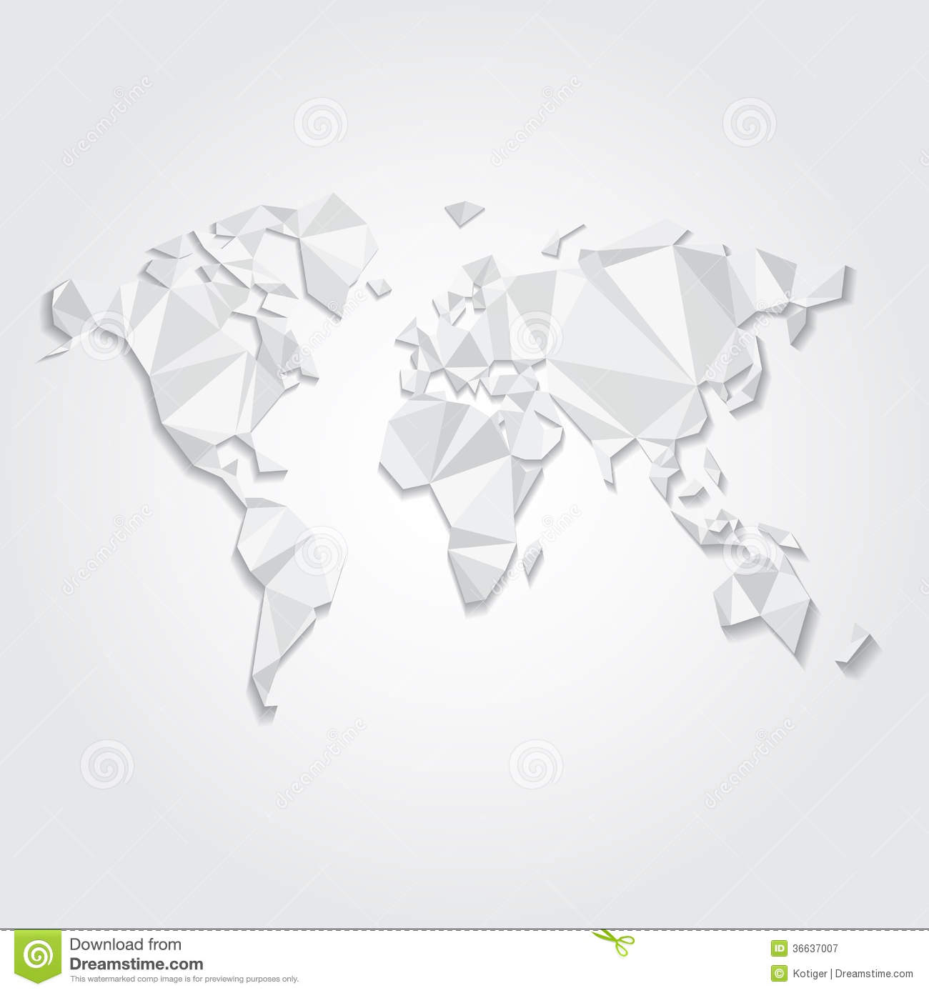 Triangular world map vector file stock vector illustration of download comp gumiabroncs Choice Image