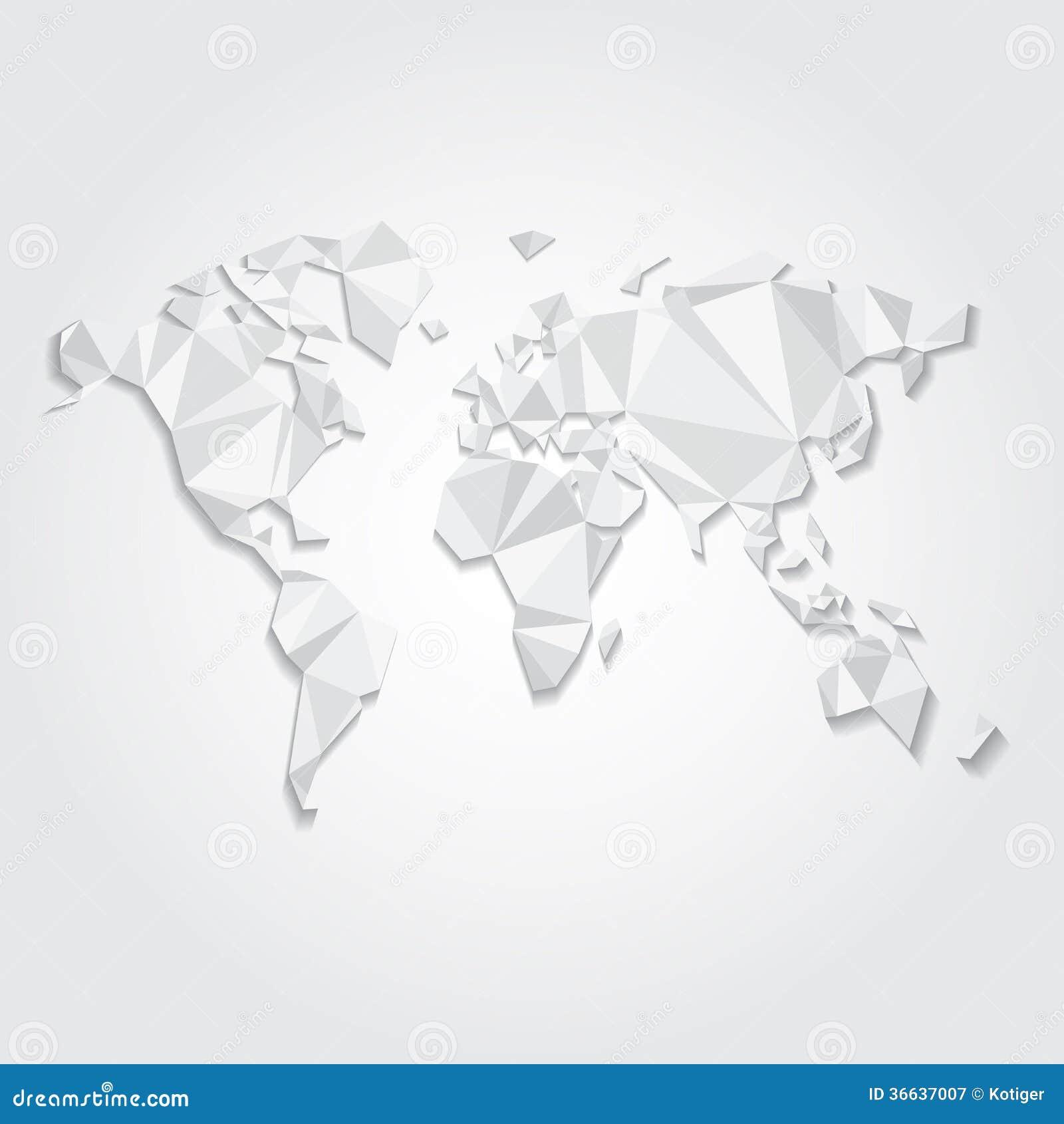 Triangular world map vector file stock vector illustration of triangular world map vector file gumiabroncs Gallery