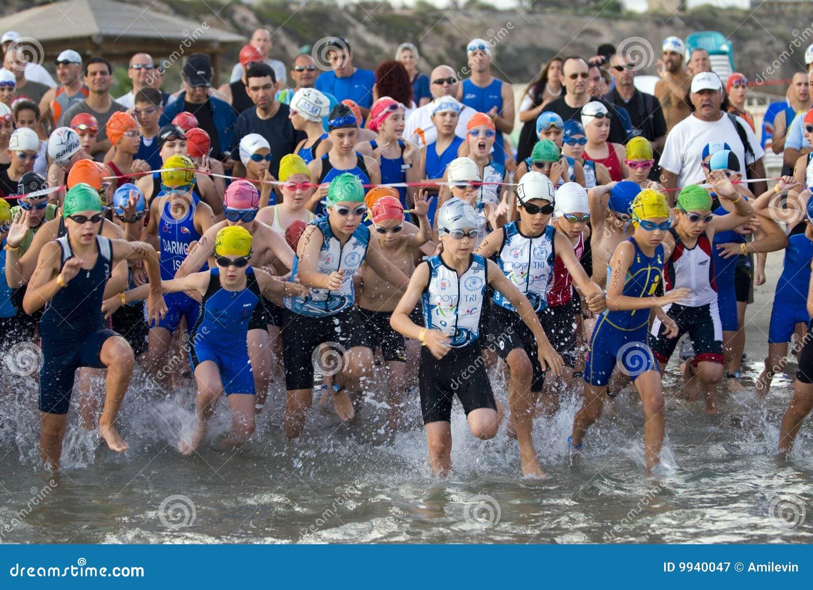 Triathlon di Tel Aviv - bambini