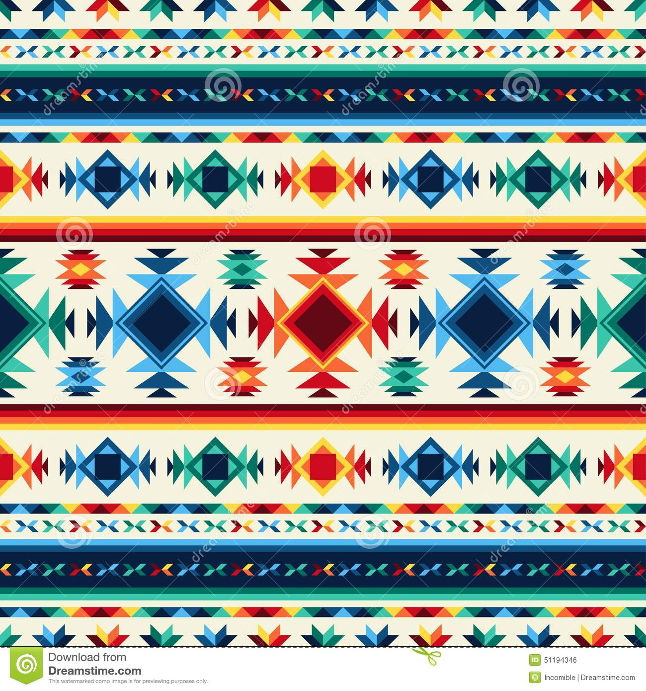 Native American Design Wallpaper : Tribal abstract seamless pattern aztec geometric stock