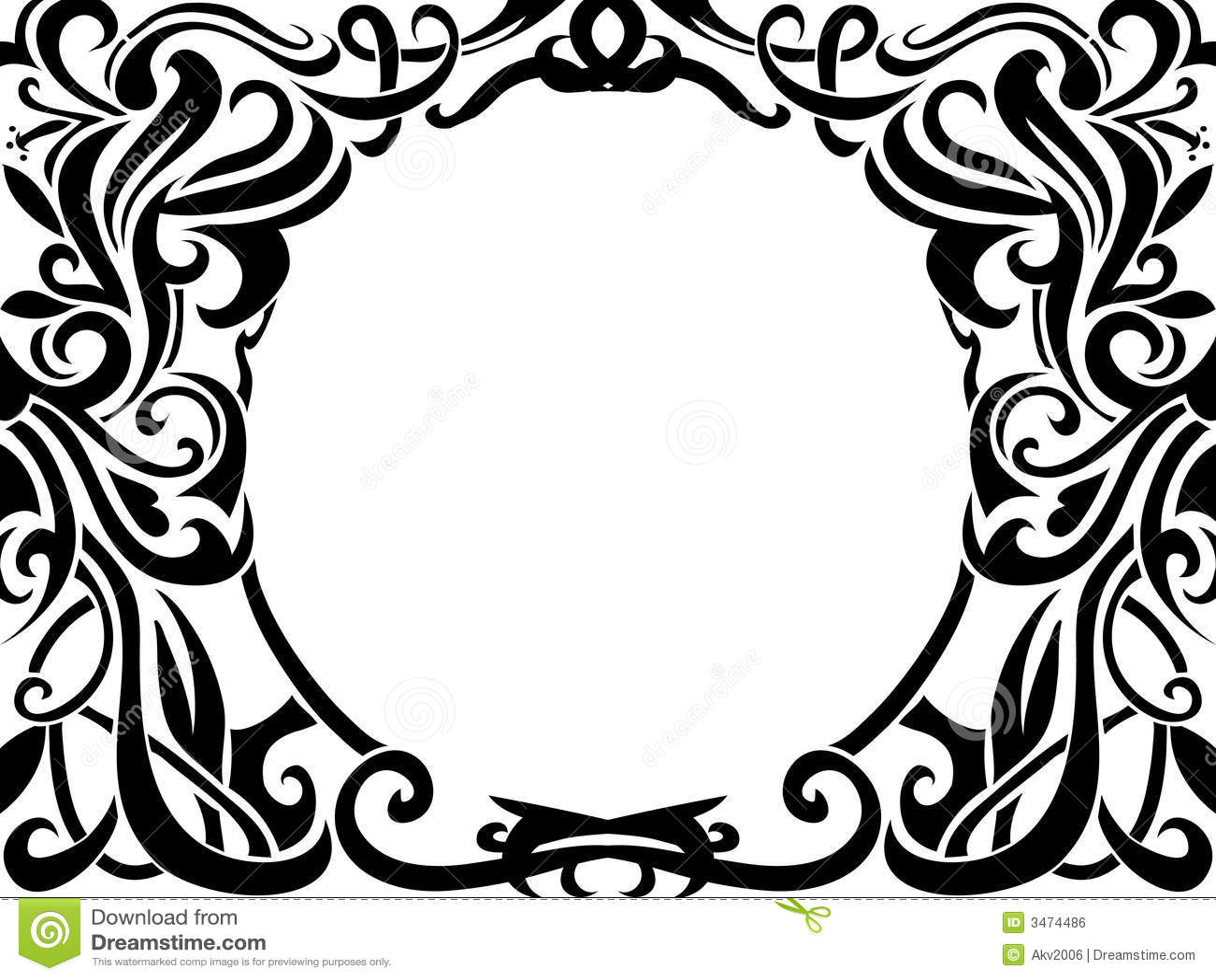 Tribal Art Frame Royalty Free Stock Image Image 3474486