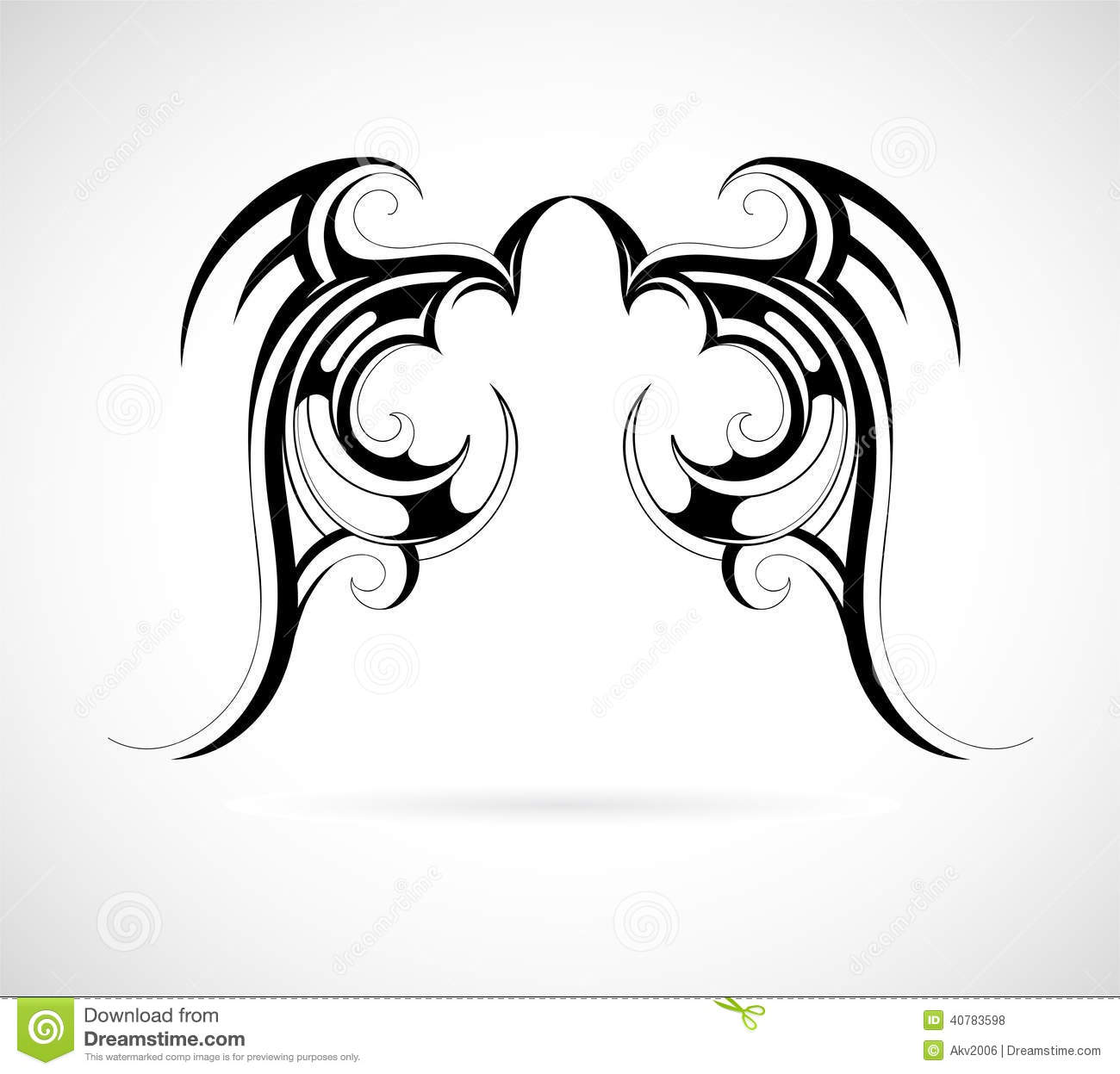 Tribal Art Wings Stock Vector - Image: 40783598