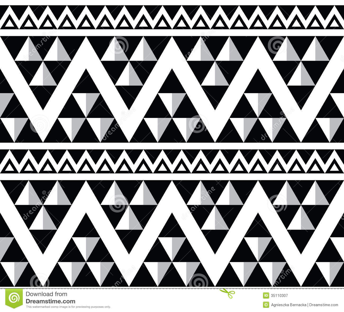 Tribal Aztec Abstract Seamless Pattern Stock Illustration ...