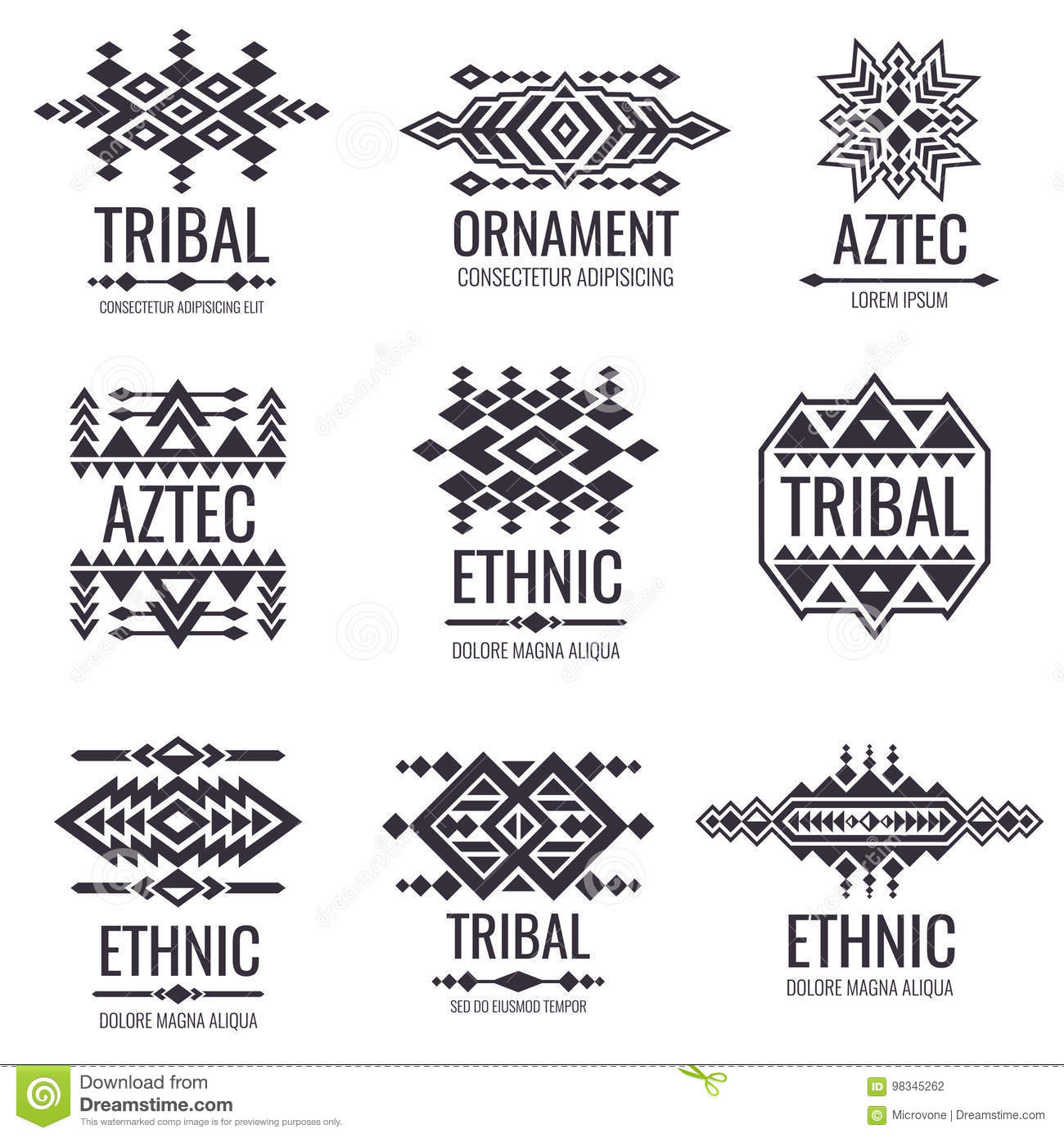 Navajo tattoo designs Mexican Indian Graphics For Tattoo Designs Dreamstimecom Tribal Aztec Vector Pattern Indian Graphics For Tattoo Designs