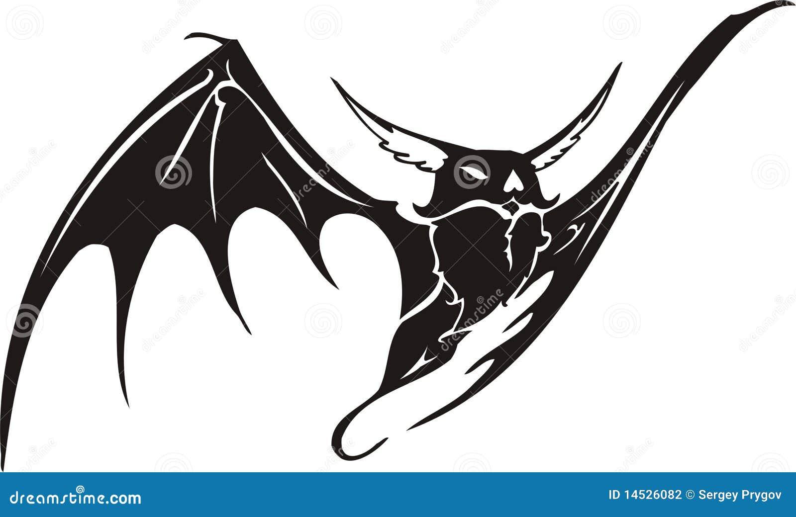 ec8f60b53 Tribal Bat . stock vector. Illustration of iskusstvoo - 14526082