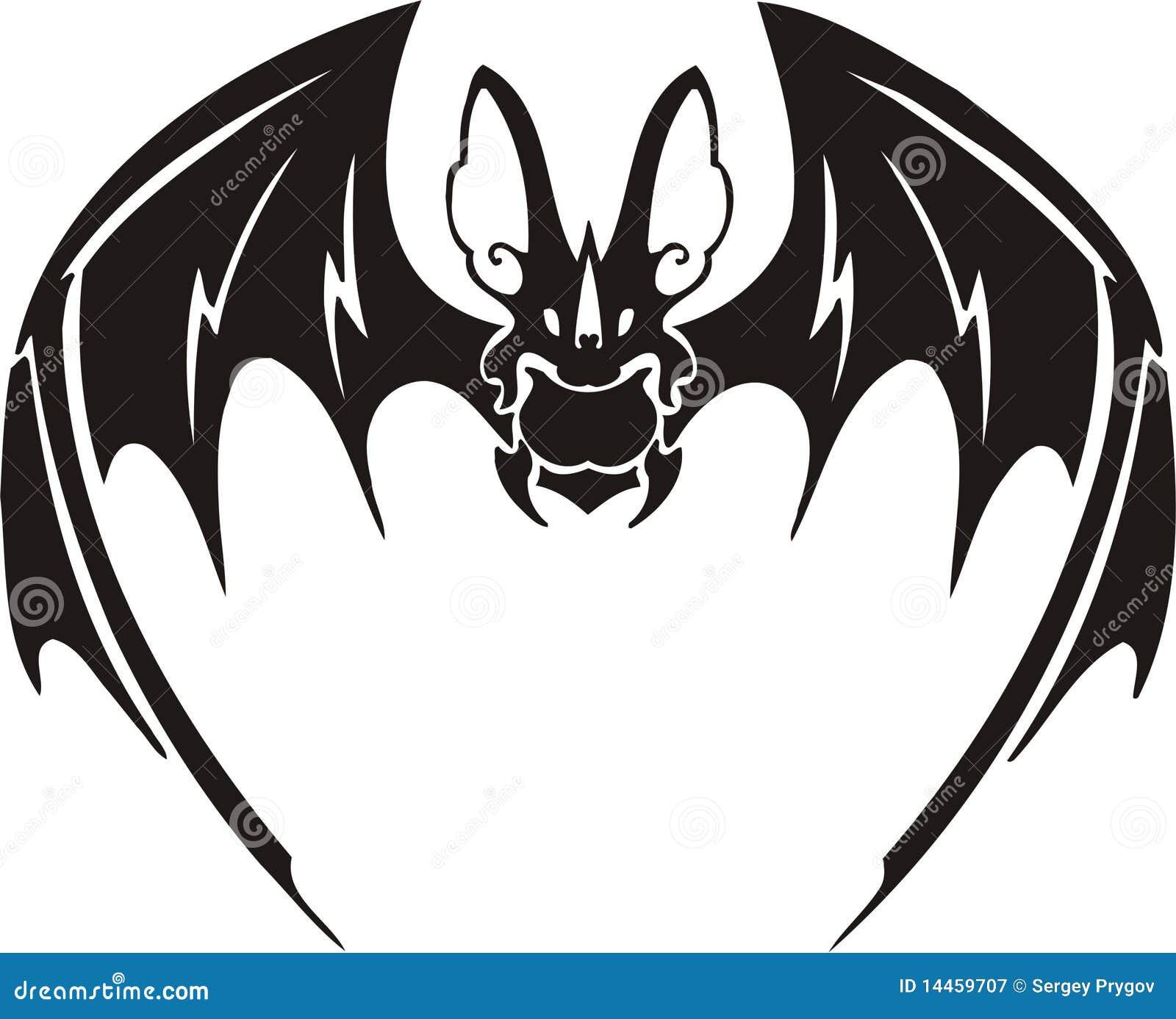 d3d3cb266 Tribal Bat 5. stock vector. Illustration of fauna, design - 14459707