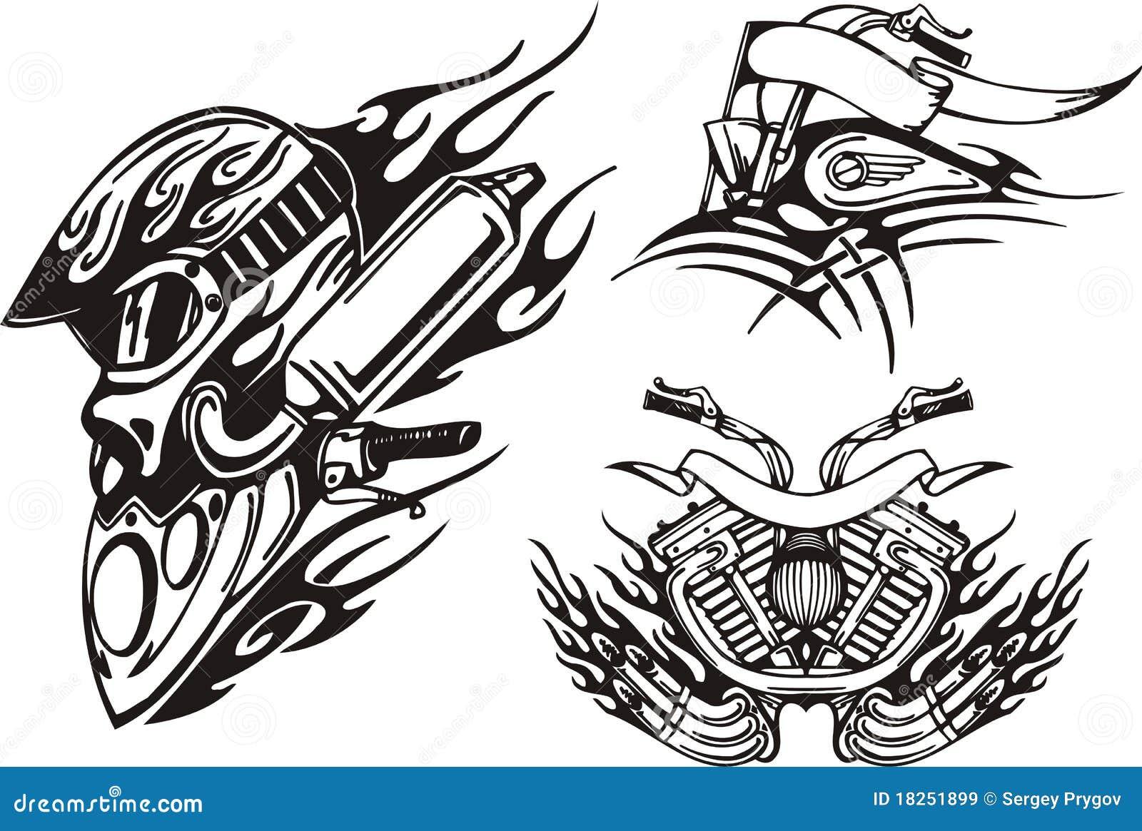 tribal bikes stock illustration illustration of gasoline 18251899. Black Bedroom Furniture Sets. Home Design Ideas