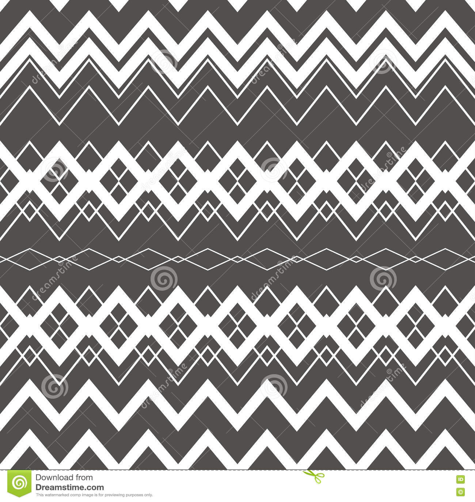 Tribal Boho Seamless Pattern Ethnic Geometric Ornament