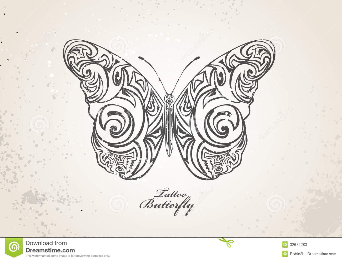 Tribal butterfly stock vector. Illustration of nature ...