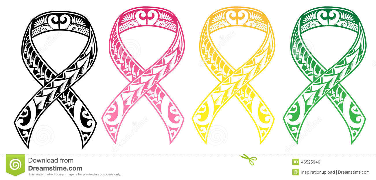 Tribal design or cancer ribbon, I have also included different colors ...