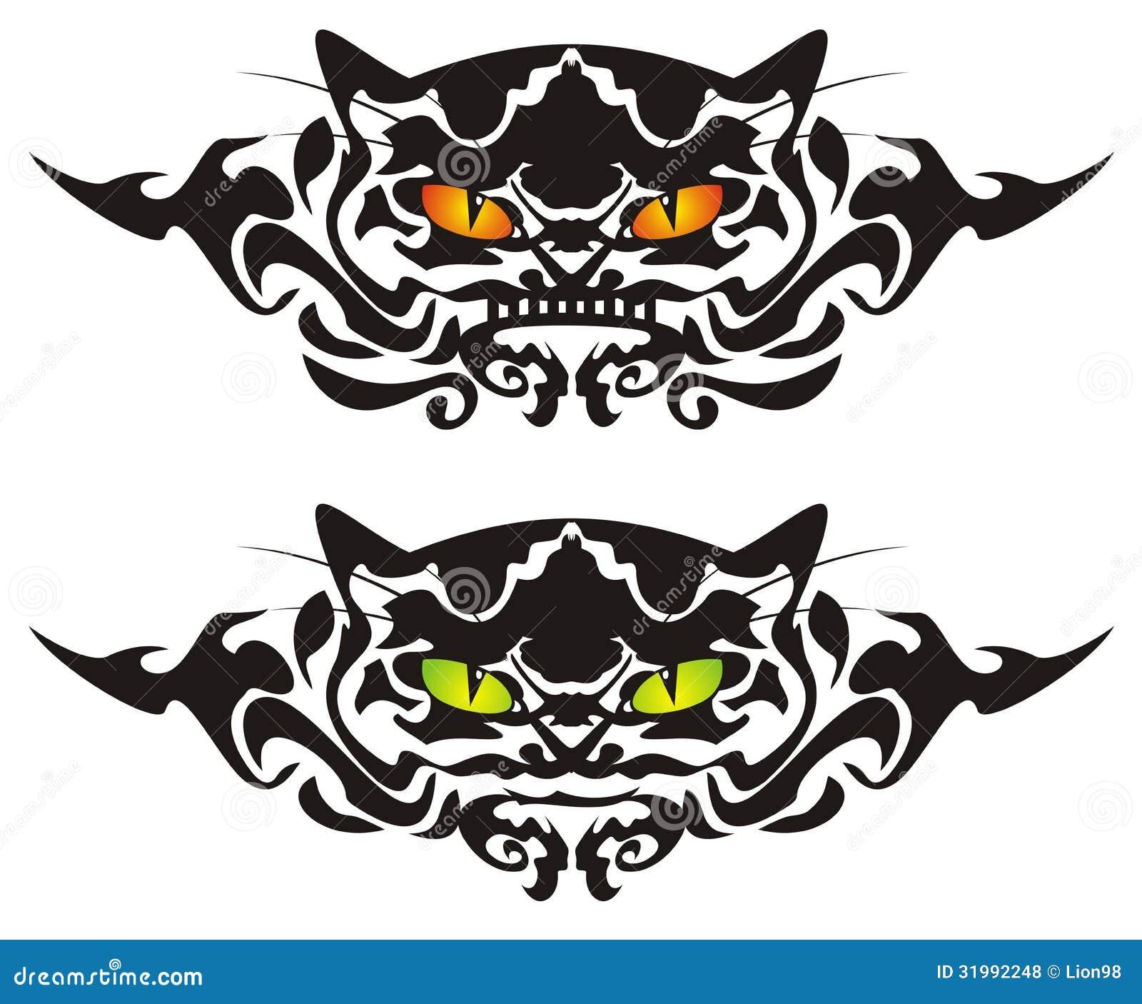 tribal cat eyes stock vector illustration of look design 31992248. Black Bedroom Furniture Sets. Home Design Ideas