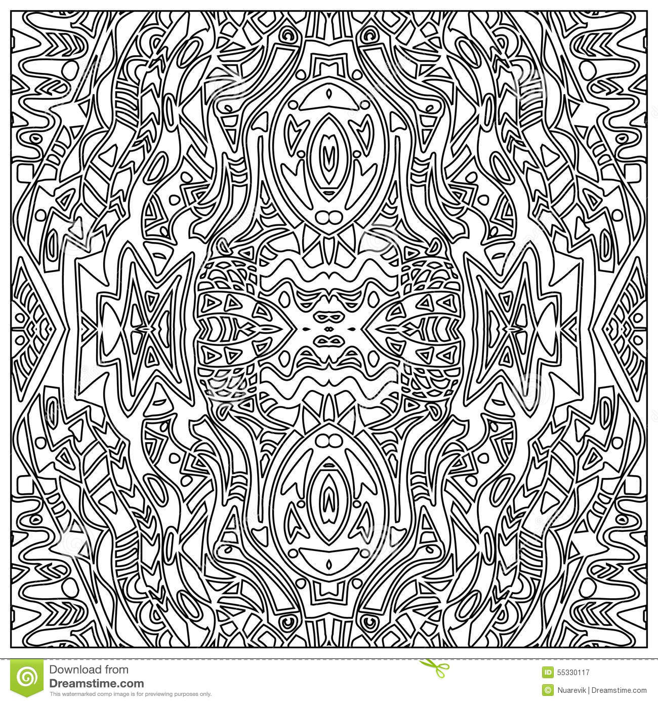 Download Tribal Coloring Zentangle Stock Illustration Of Ornate