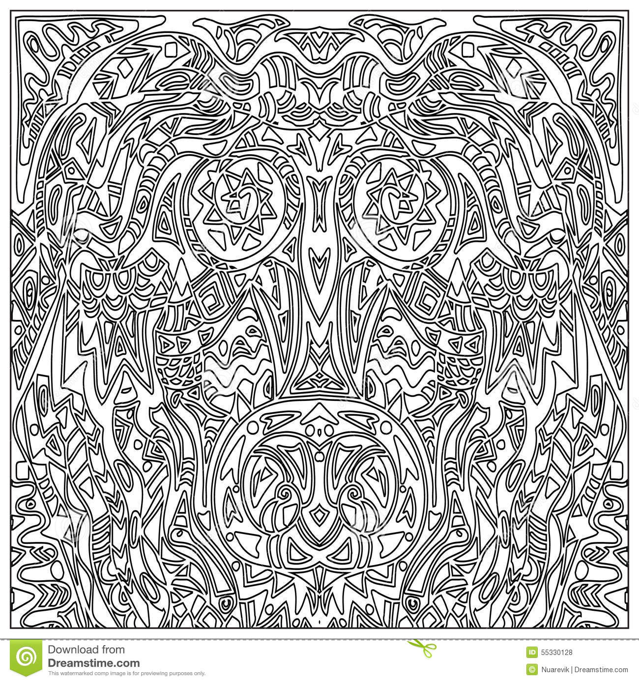 Tribal coloring zentangle stock illustration image 55330128 for Tribal pattern coloring pages